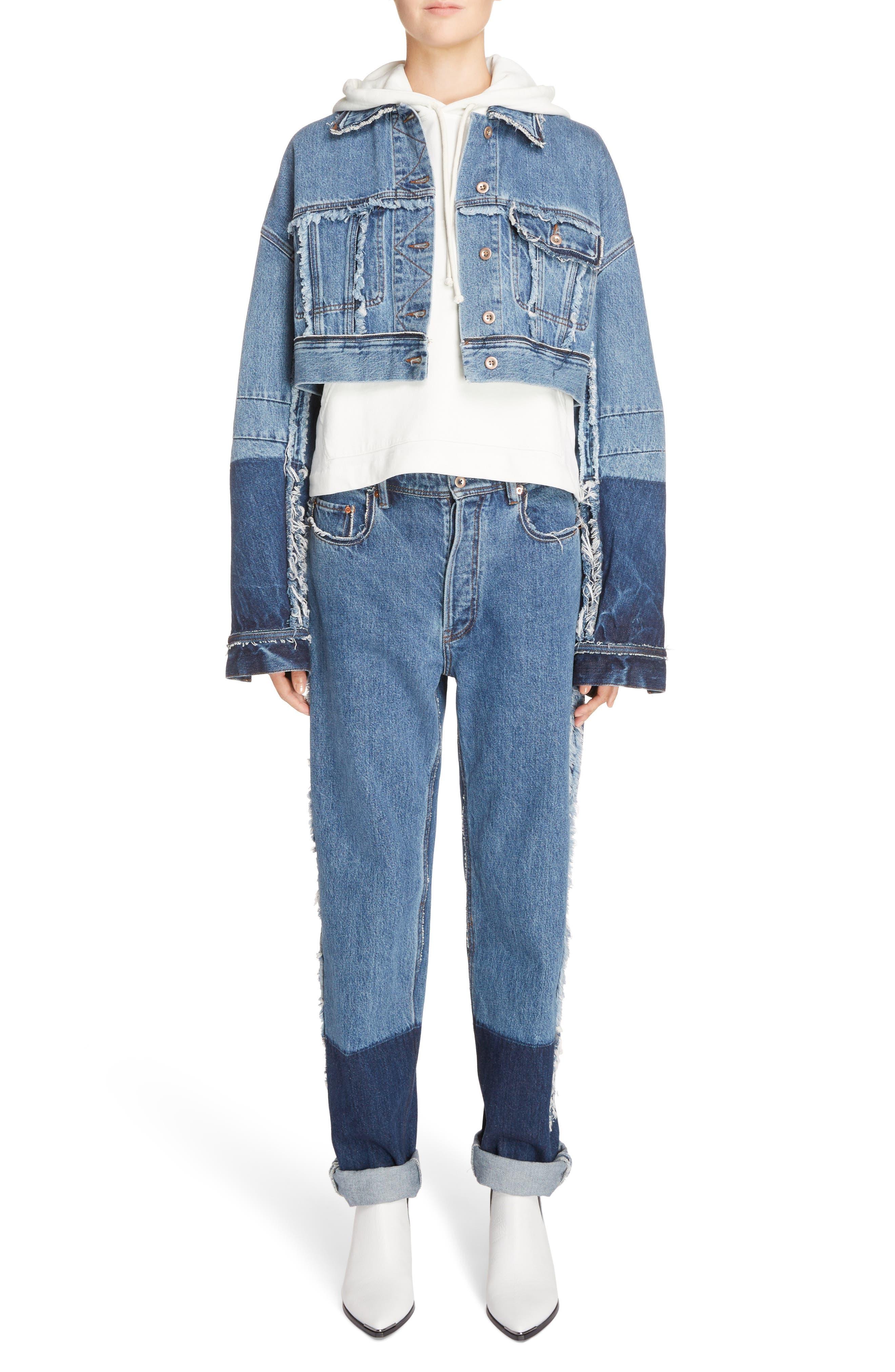 Mirja Frayed High Waist Straight Leg Jeans,                             Alternate thumbnail 7, color,                             Indigo Blue