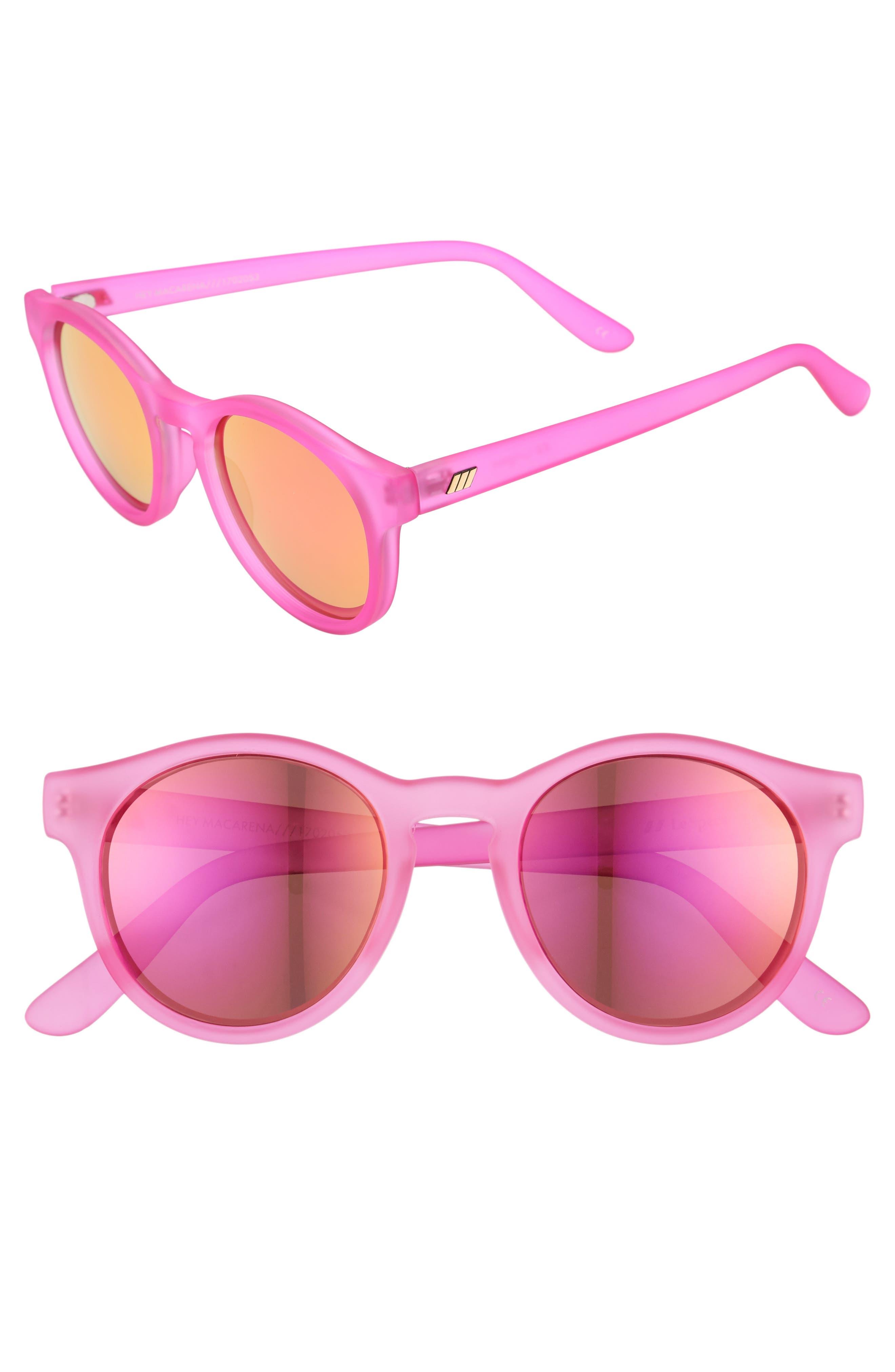 Main Image - Le Specs Hey Macarena 51mm Round Sunglasses