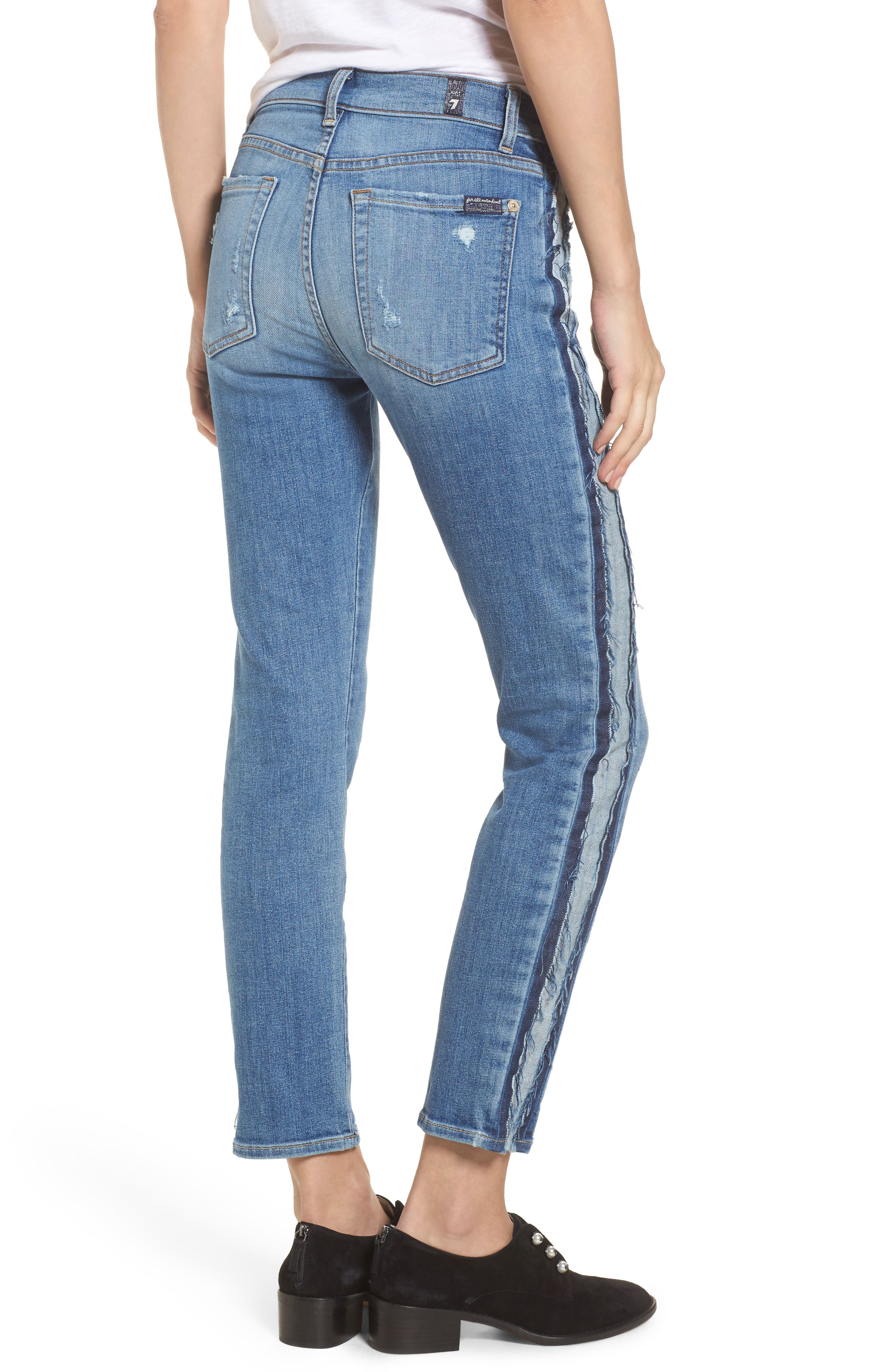 Alternate Image 2  - 7 For All Mankind® Roxanne Ankle Jeans (Bright Houston)