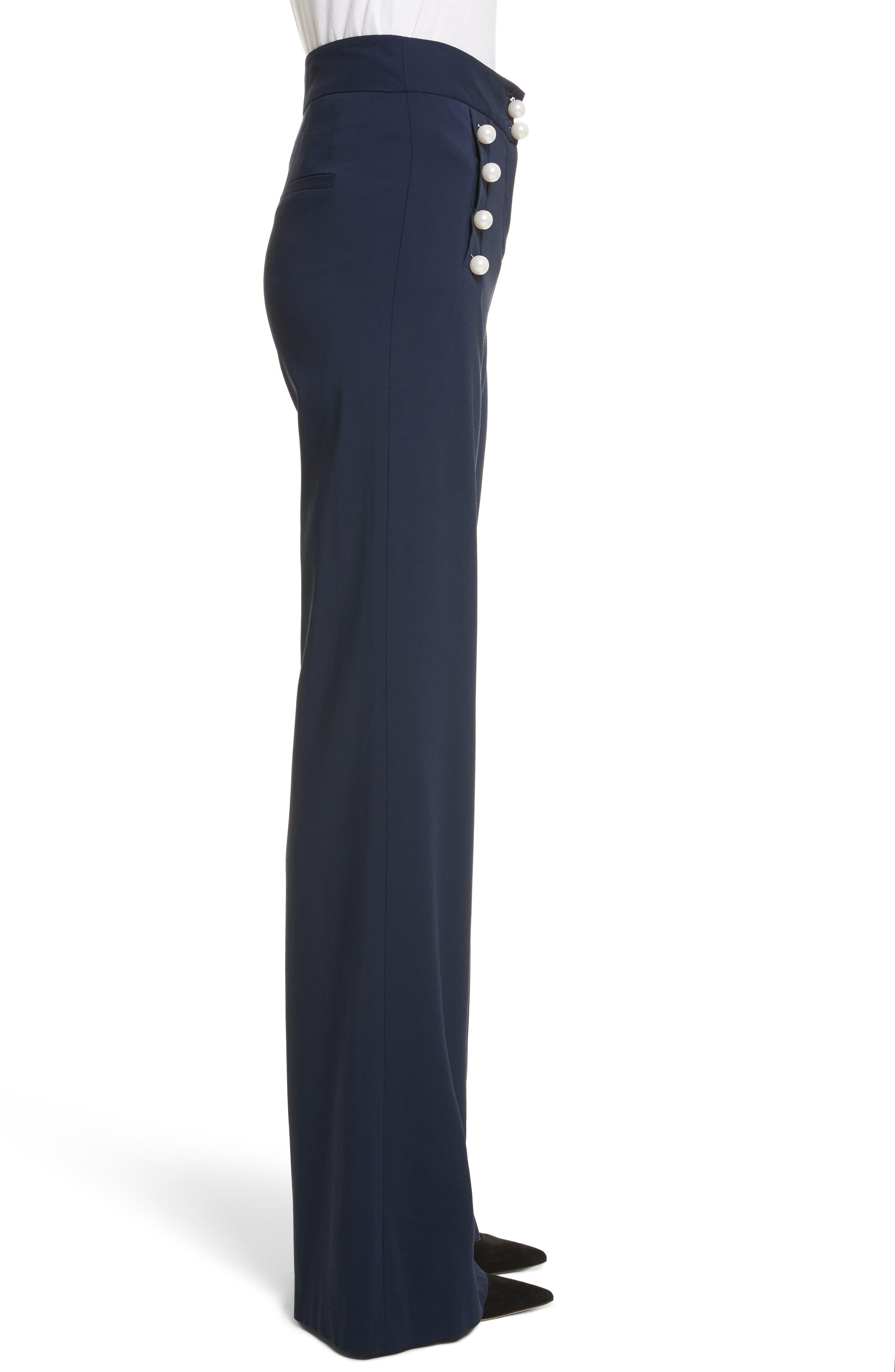 Adley Sailor Pants,                             Alternate thumbnail 3, color,                             Navy