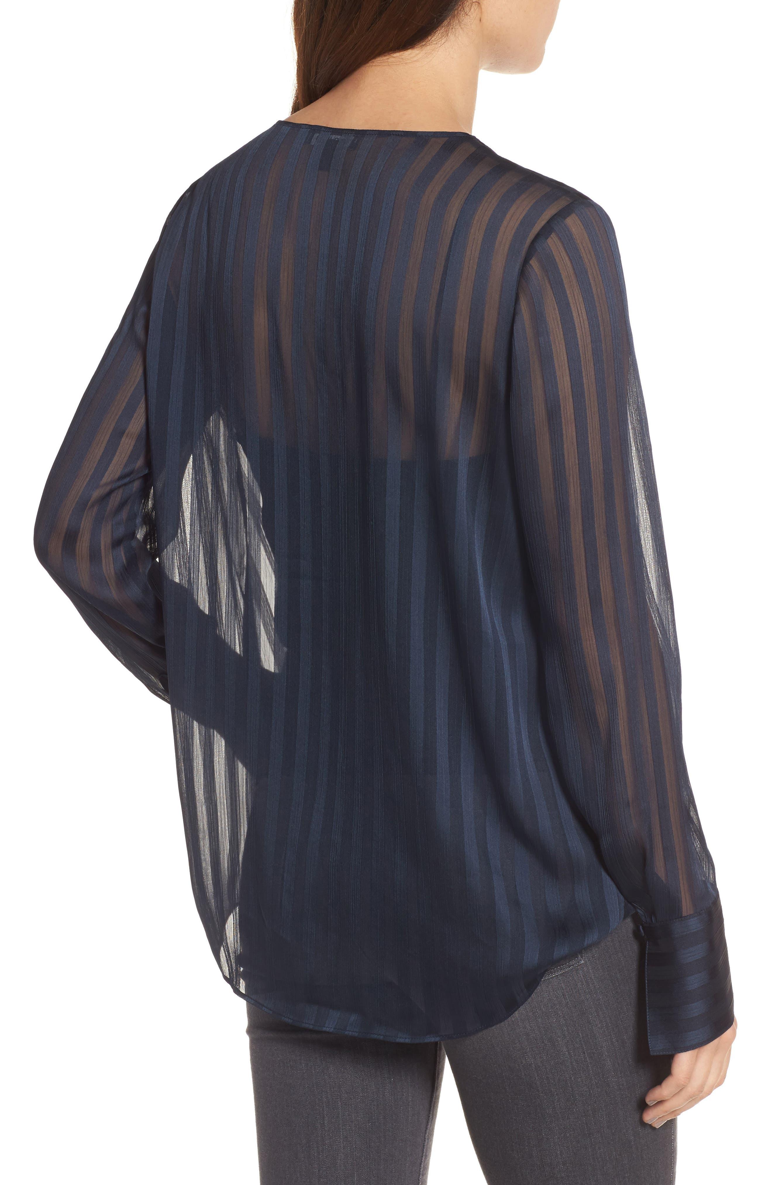 Alternate Image 2  - Trouvé Sheer Shadow Stripe Top