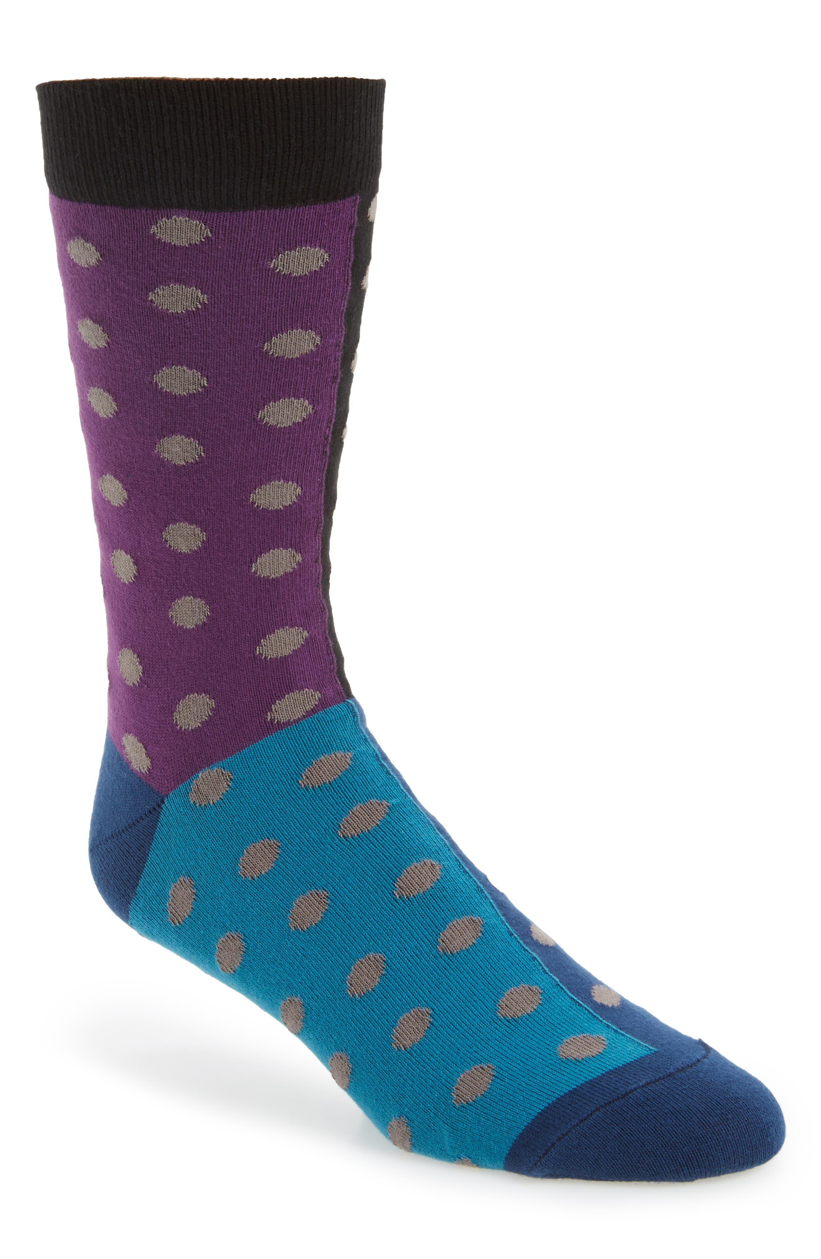 Quad Dot Socks,                         Main,                         color, Black