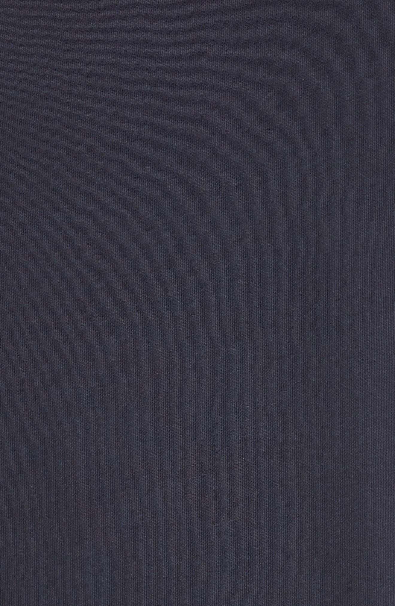 Uima Ruffle Cotton Top,                             Alternate thumbnail 5, color,                             True Navy