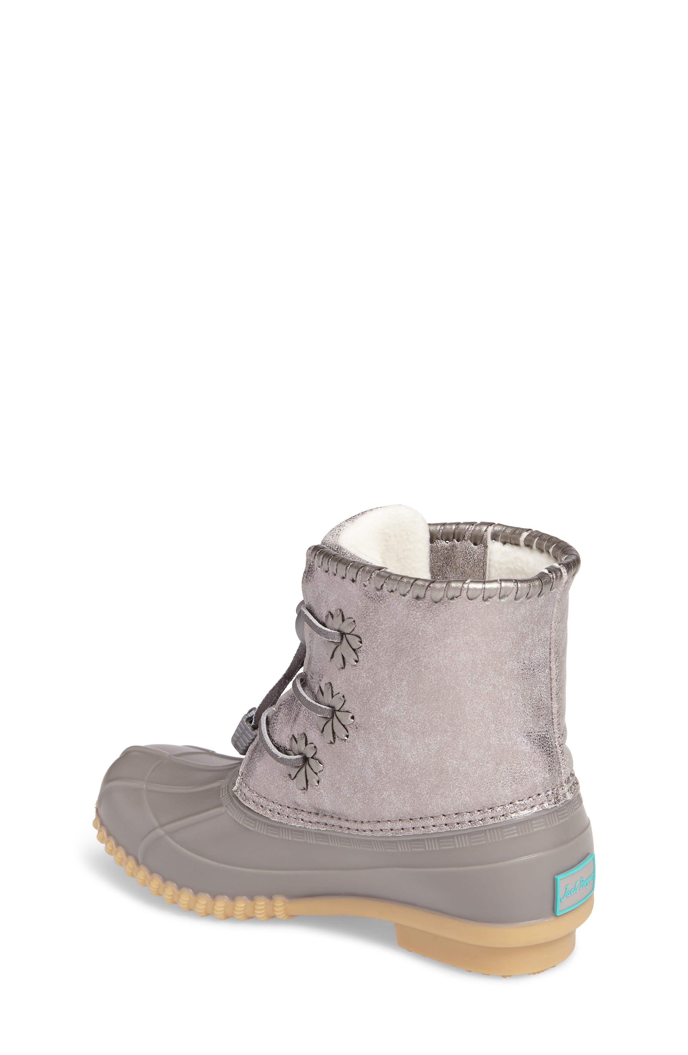 Alternate Image 3  - Jack Rogers Miss Chloe Metallic Rain Boot (Toddler, Little Kid & Big Kid)
