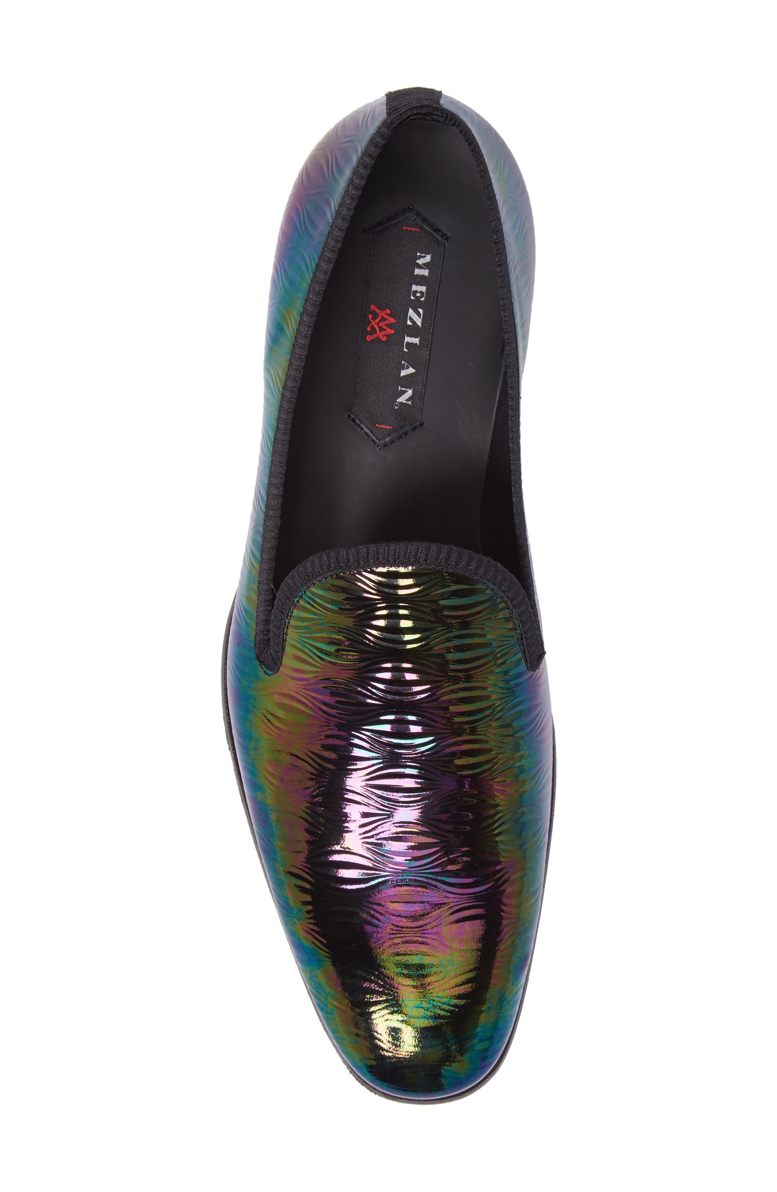 Duque Venetian Loafer,                             Alternate thumbnail 5, color,                             Black Leather