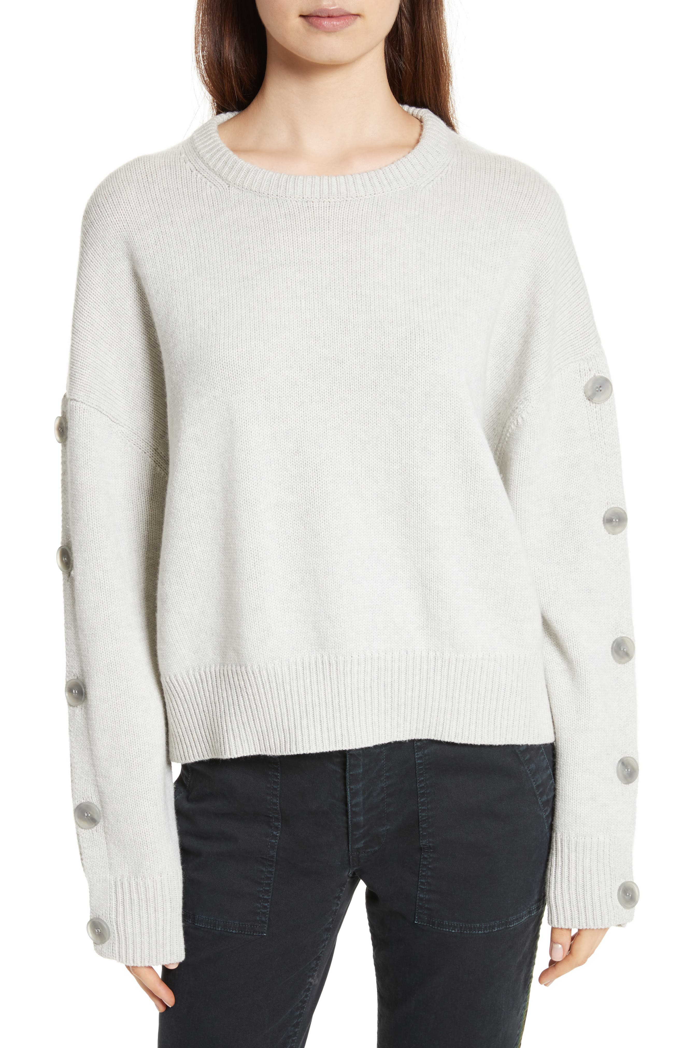 Martina Wool & Cashmere Sweater,                         Main,                         color, Light Grey