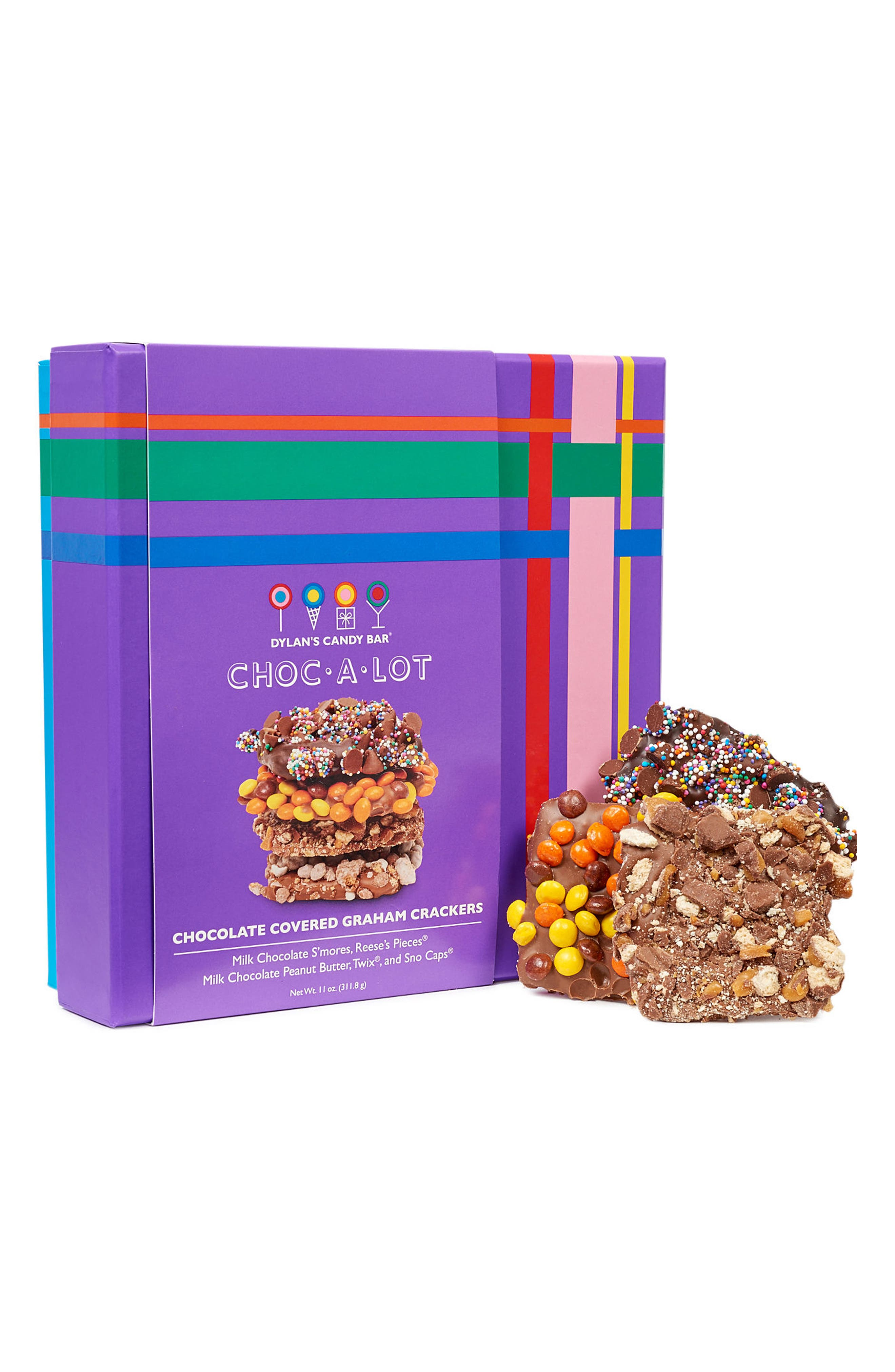 Choc-A-Lot Chocolate Covered Graham Crackers,                         Main,                         color, Purple