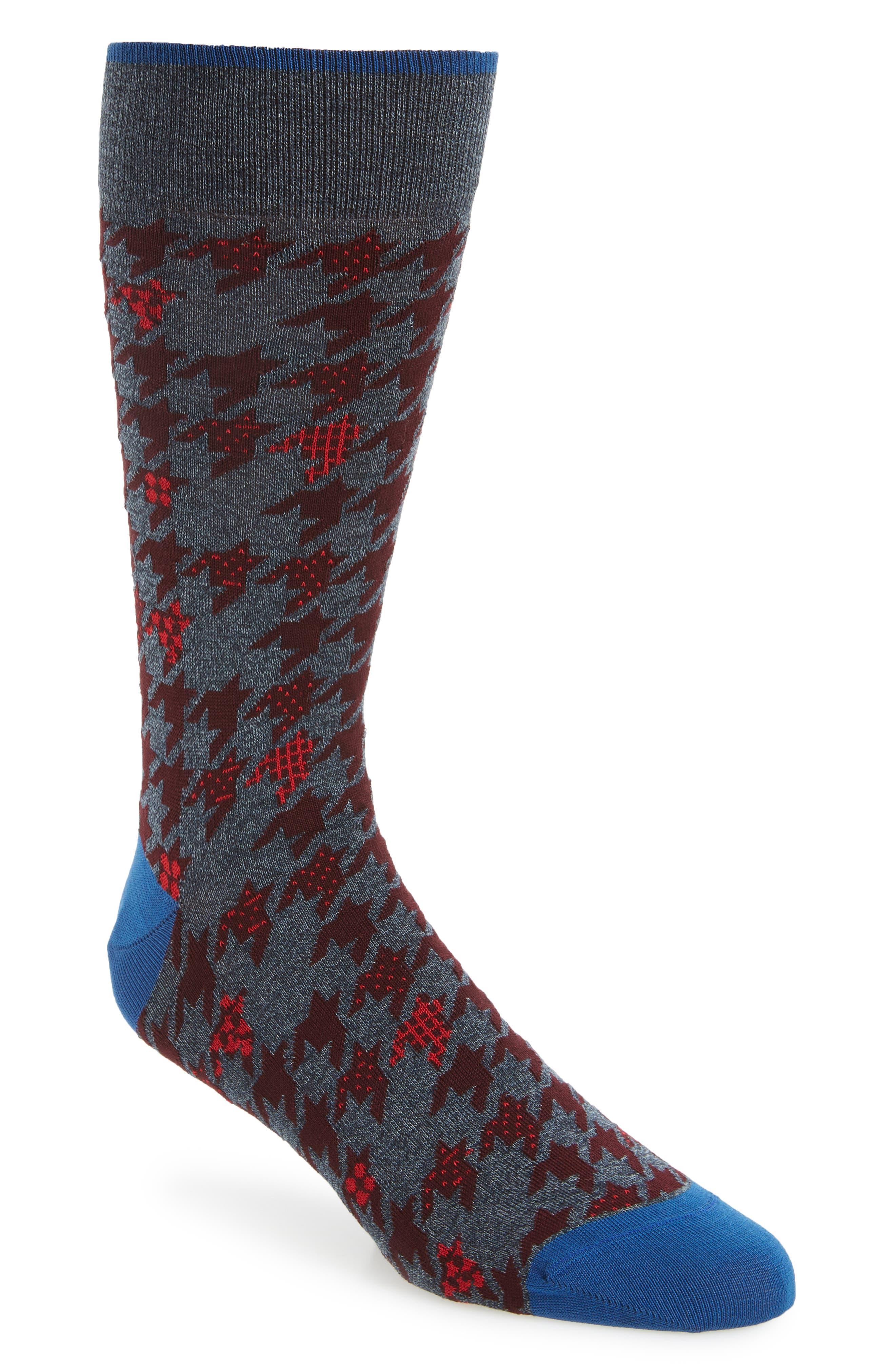 Bugatchi Houndstooth Socks