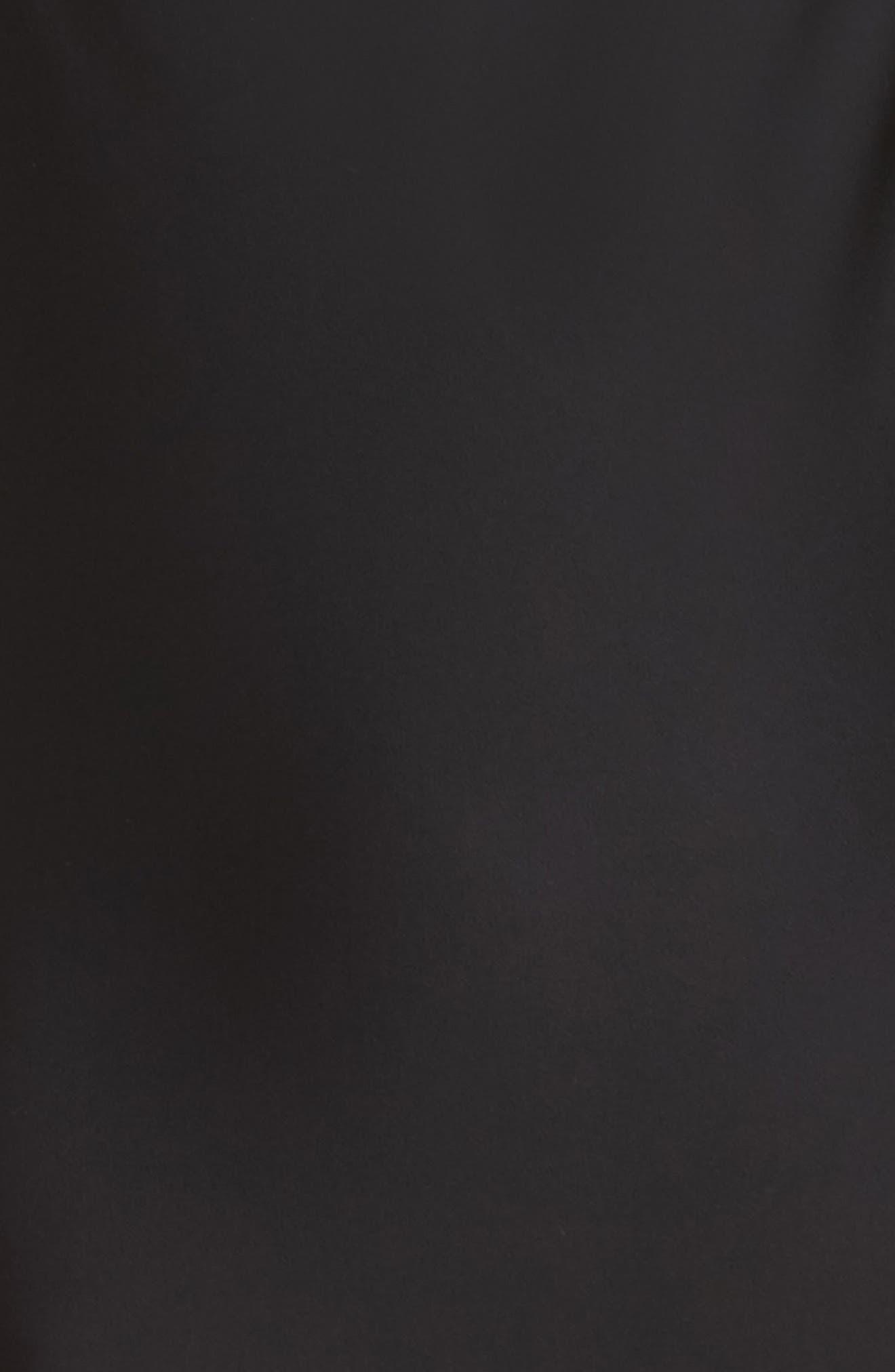 Satin Bodysuit,                             Alternate thumbnail 5, color,                             Black