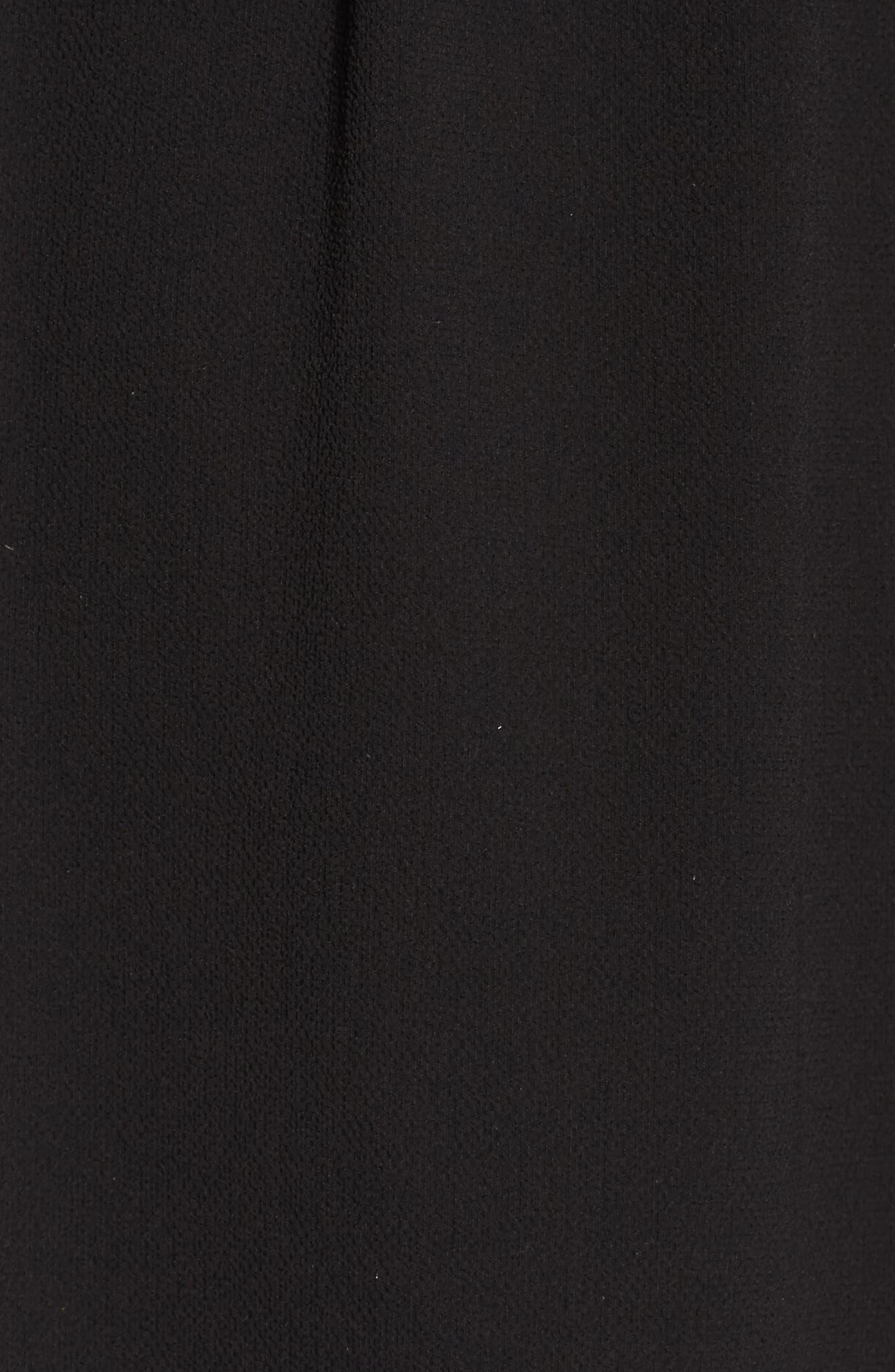 Mock Neck Shift Dress,                             Alternate thumbnail 5, color,                             Black