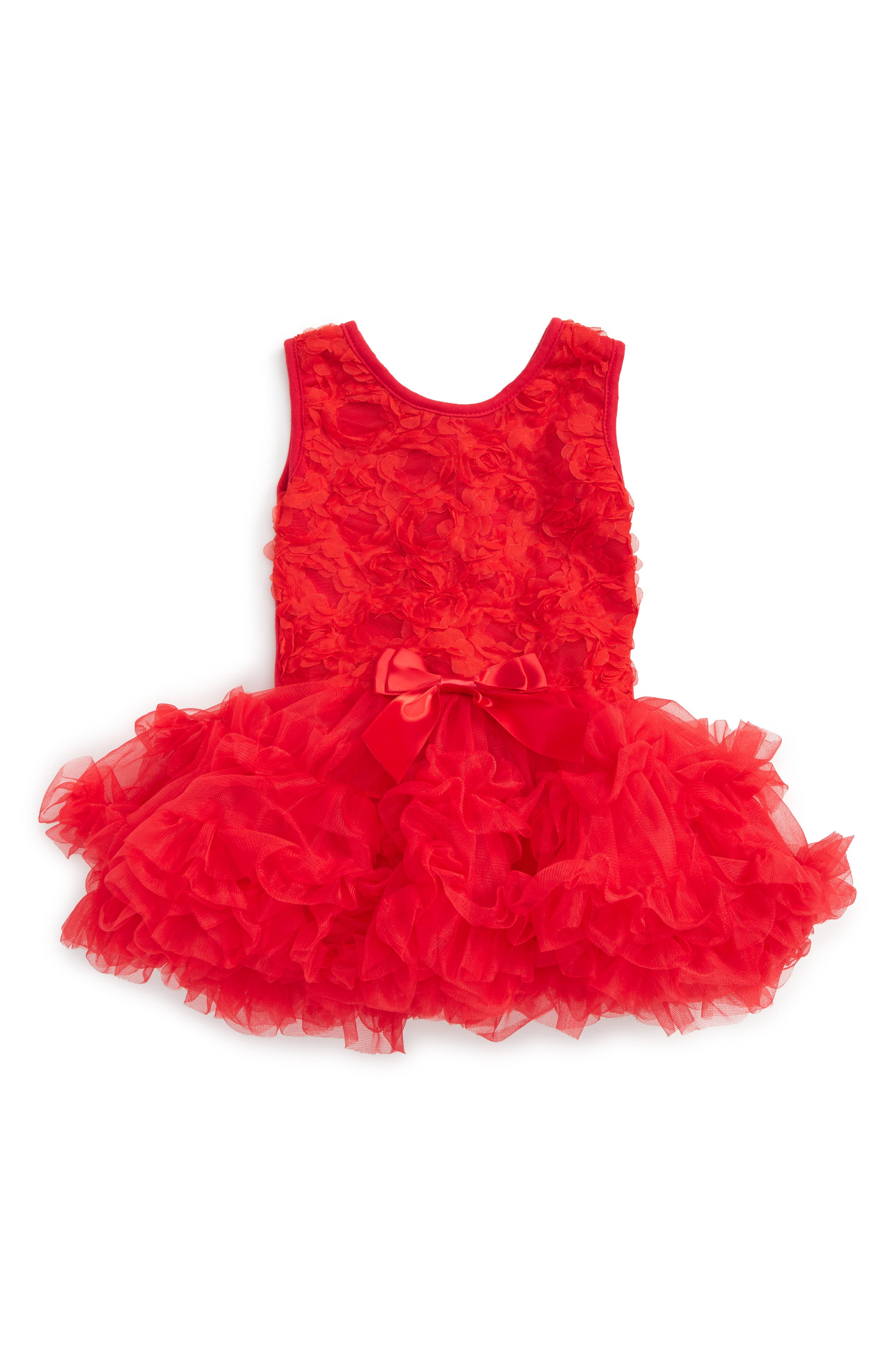 Rosette Tutu Dress,                         Main,                         color, Red