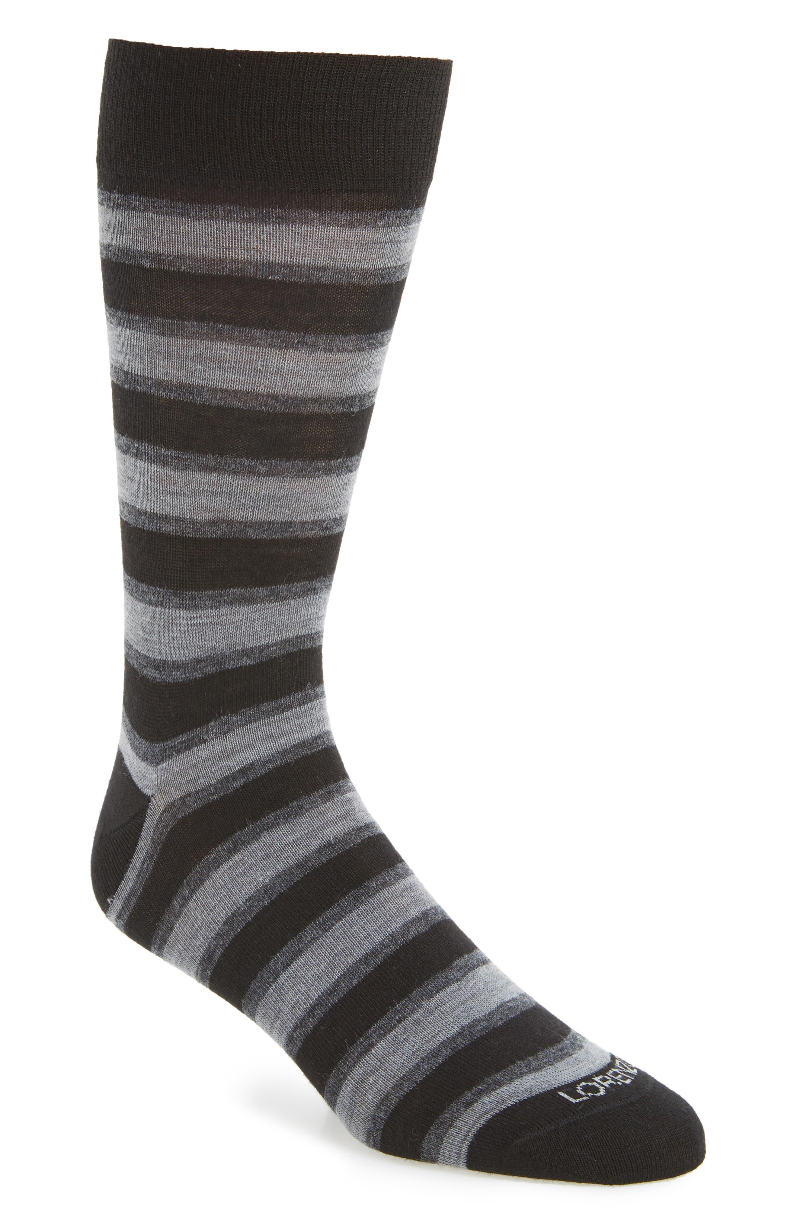 Lorenzo Uomo Dual Stripe Socks