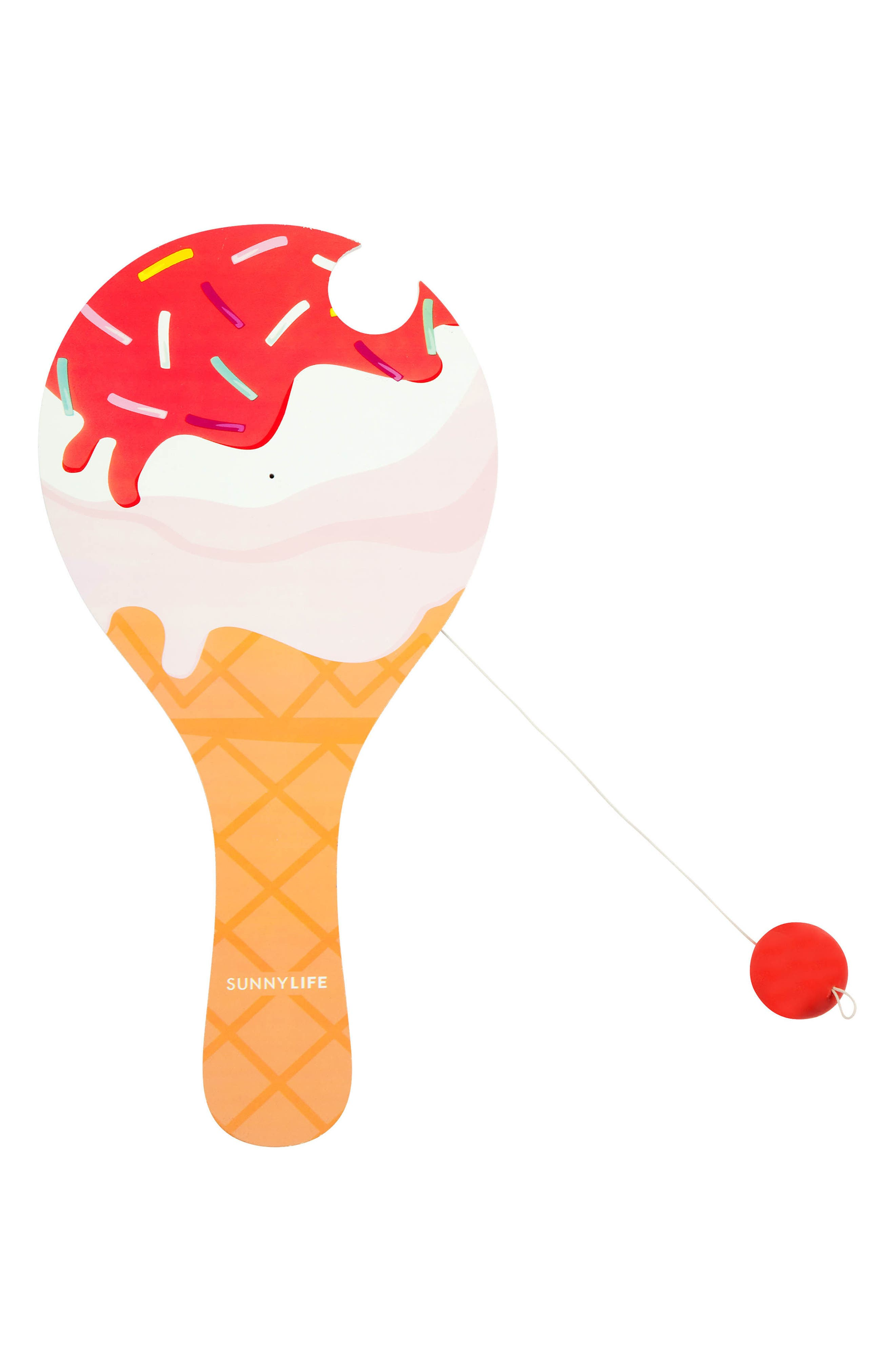 Ice Cream Paddle Ball,                         Main,                         color, Multi