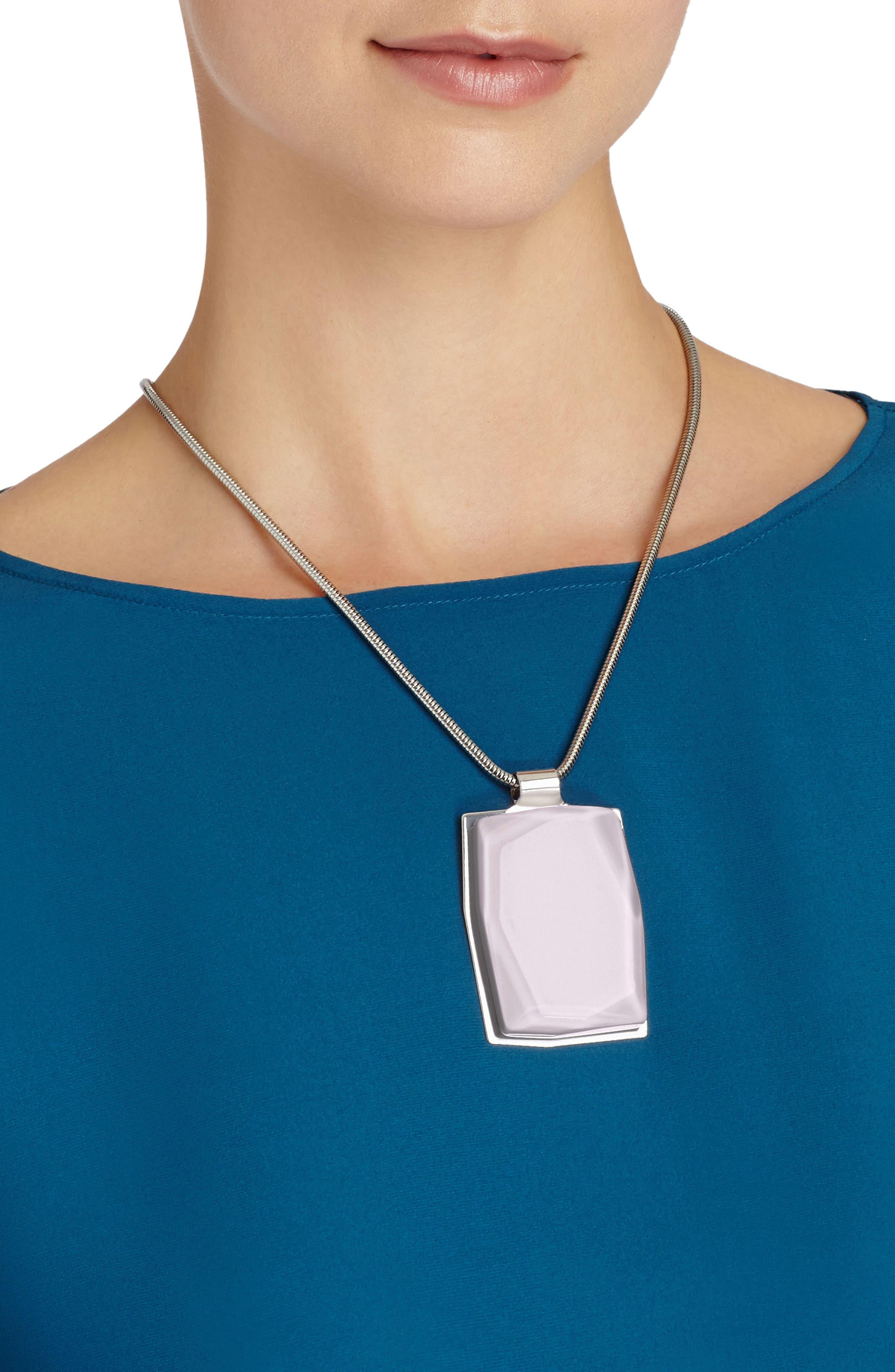 Faceted Pendant Drop Necklace,                             Main thumbnail 1, color,                             Iced Violet