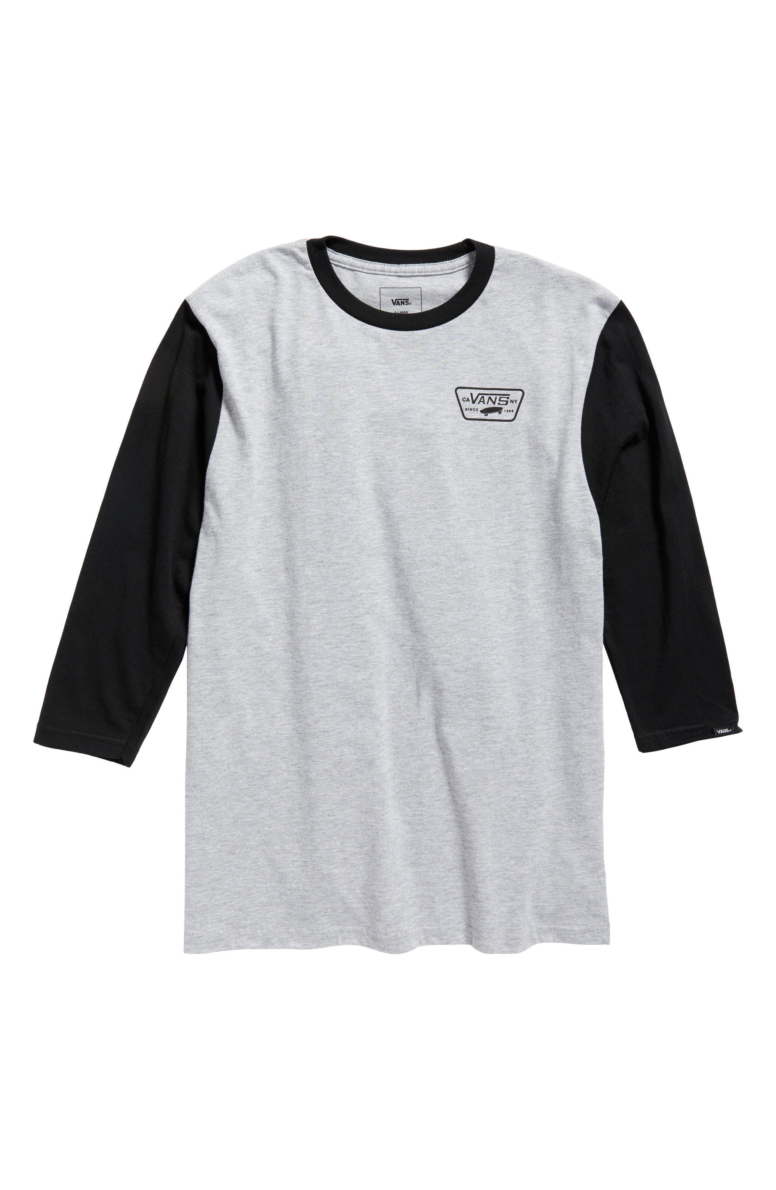 Vans Full Patch Long Sleeve T-Shirt (Big Boys)
