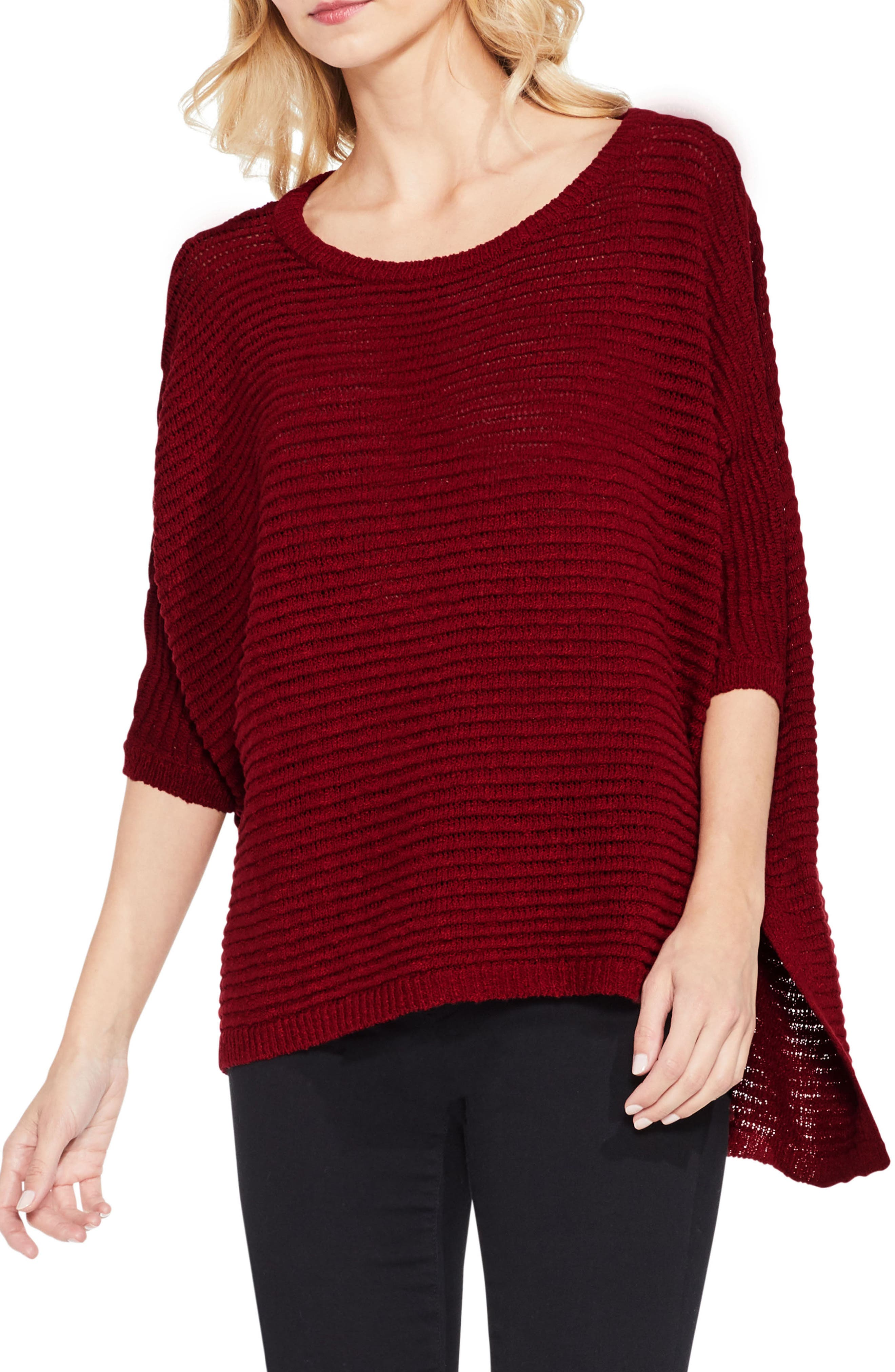 Two by Vince Camuto Crinkle Yarn Dolman Sleeve Top