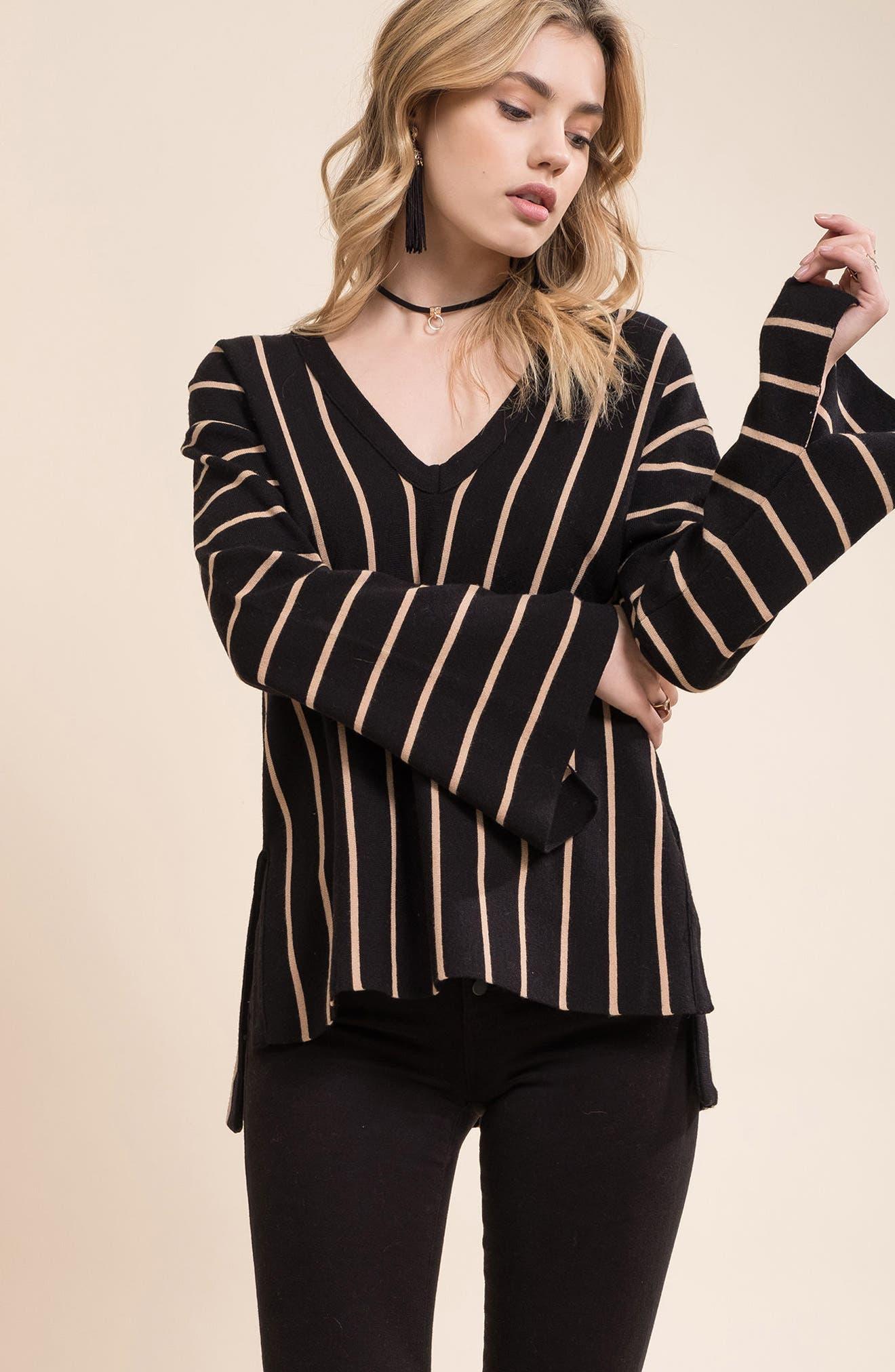 Alternate Image 2  - MOON RIVER Split Cuff Sweater