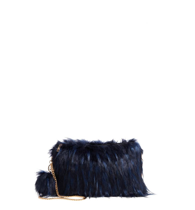 Main Image - Natasha Faux Fur Clutch
