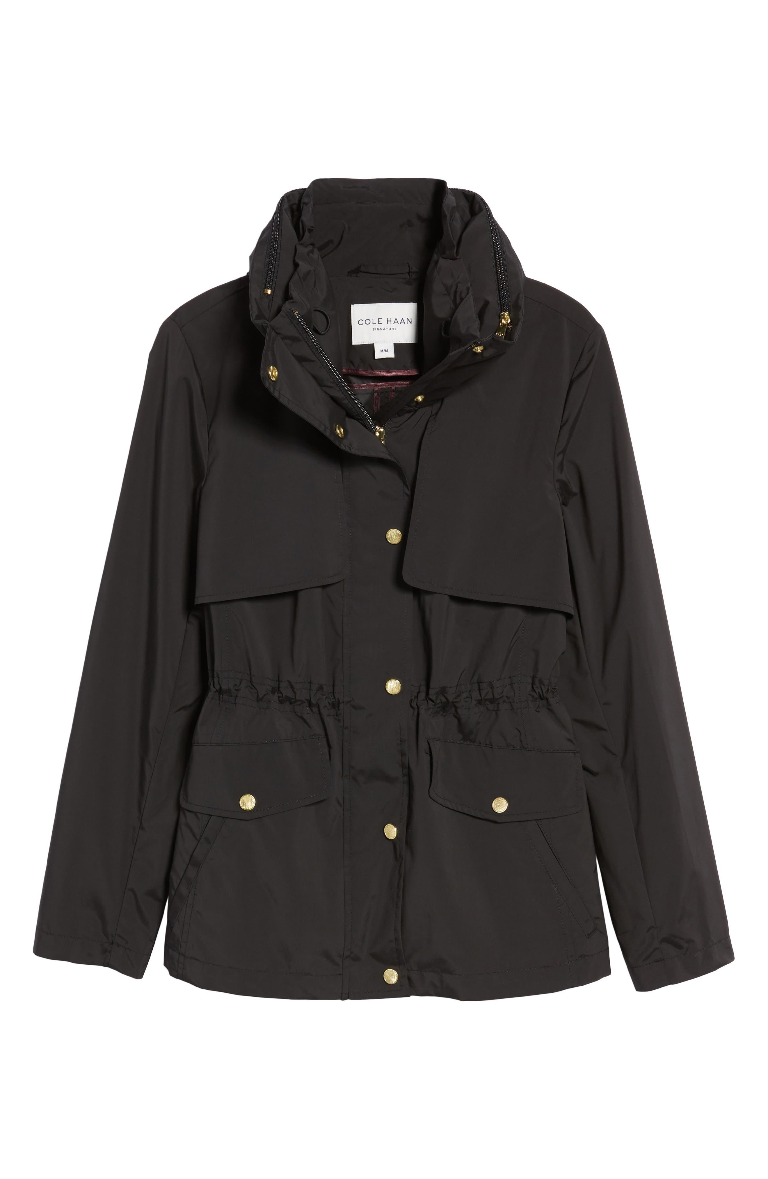 Packable Raincoat,                             Alternate thumbnail 6, color,                             Black