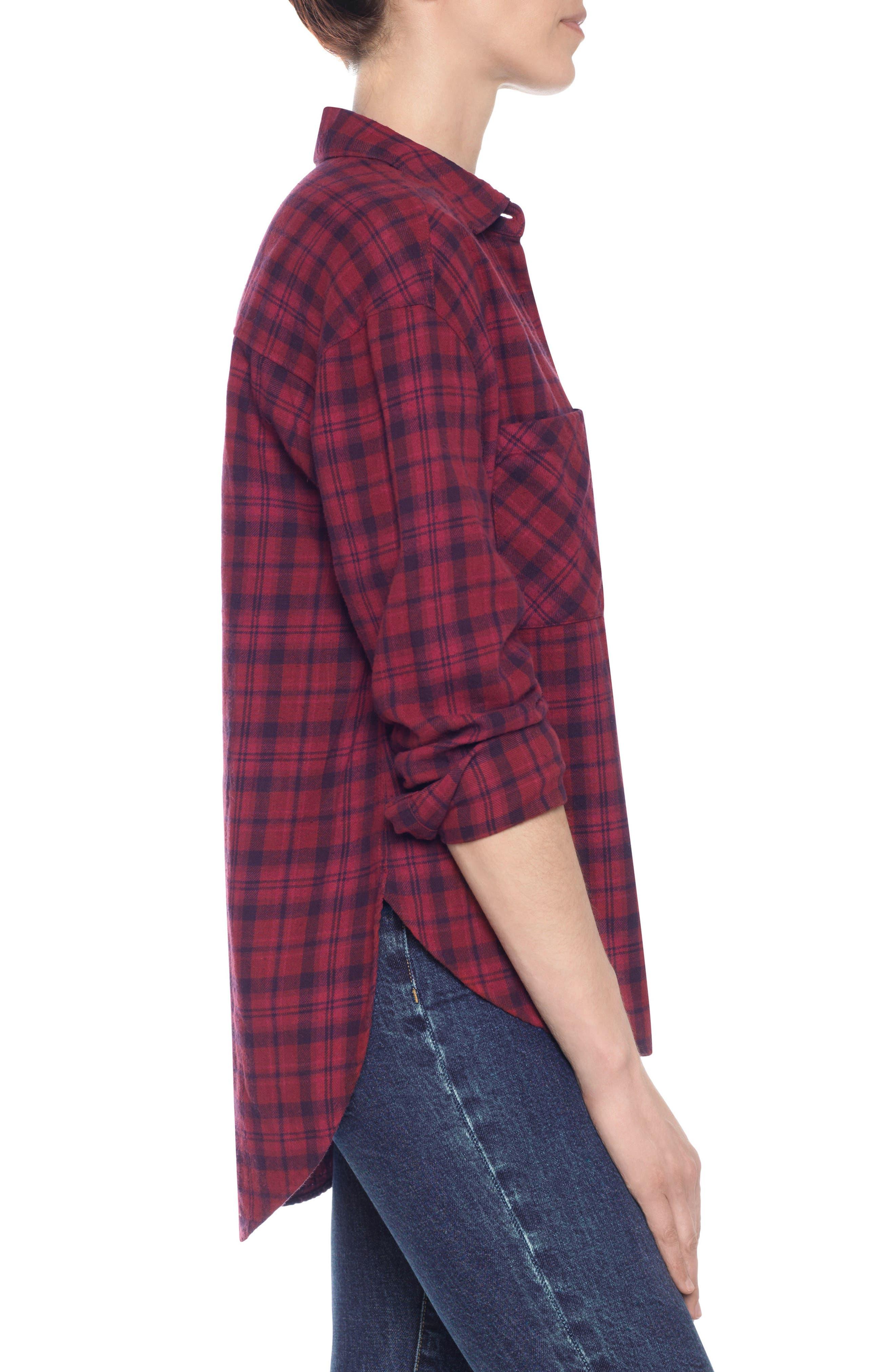 Alternate Image 4  - Taylor Hill x Joe's Boyfriend Flannel Shirt