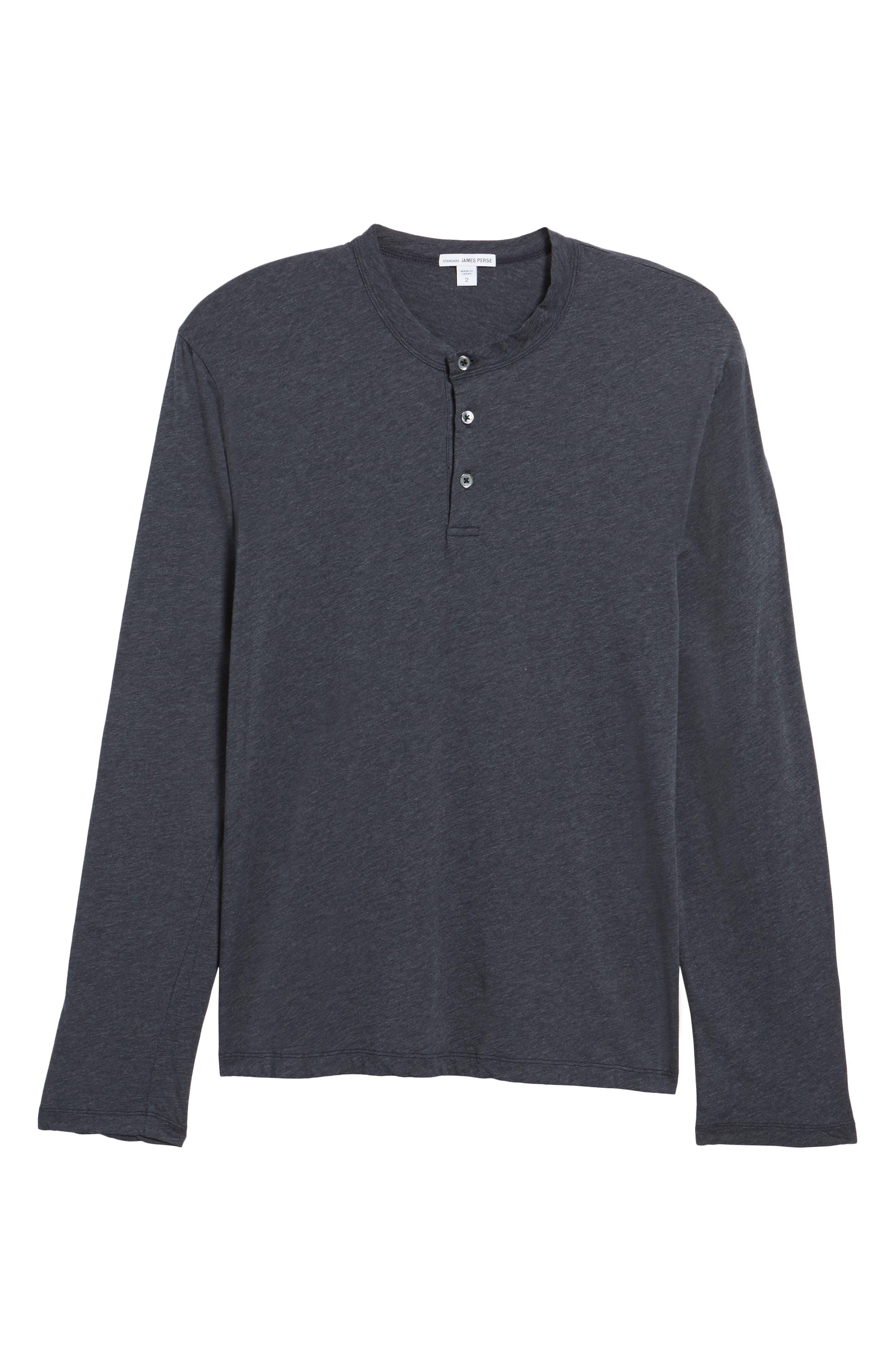 Alternate Image 6  - James Perse Long Sleeve Cotton & Cashmere Henley T-Shirt