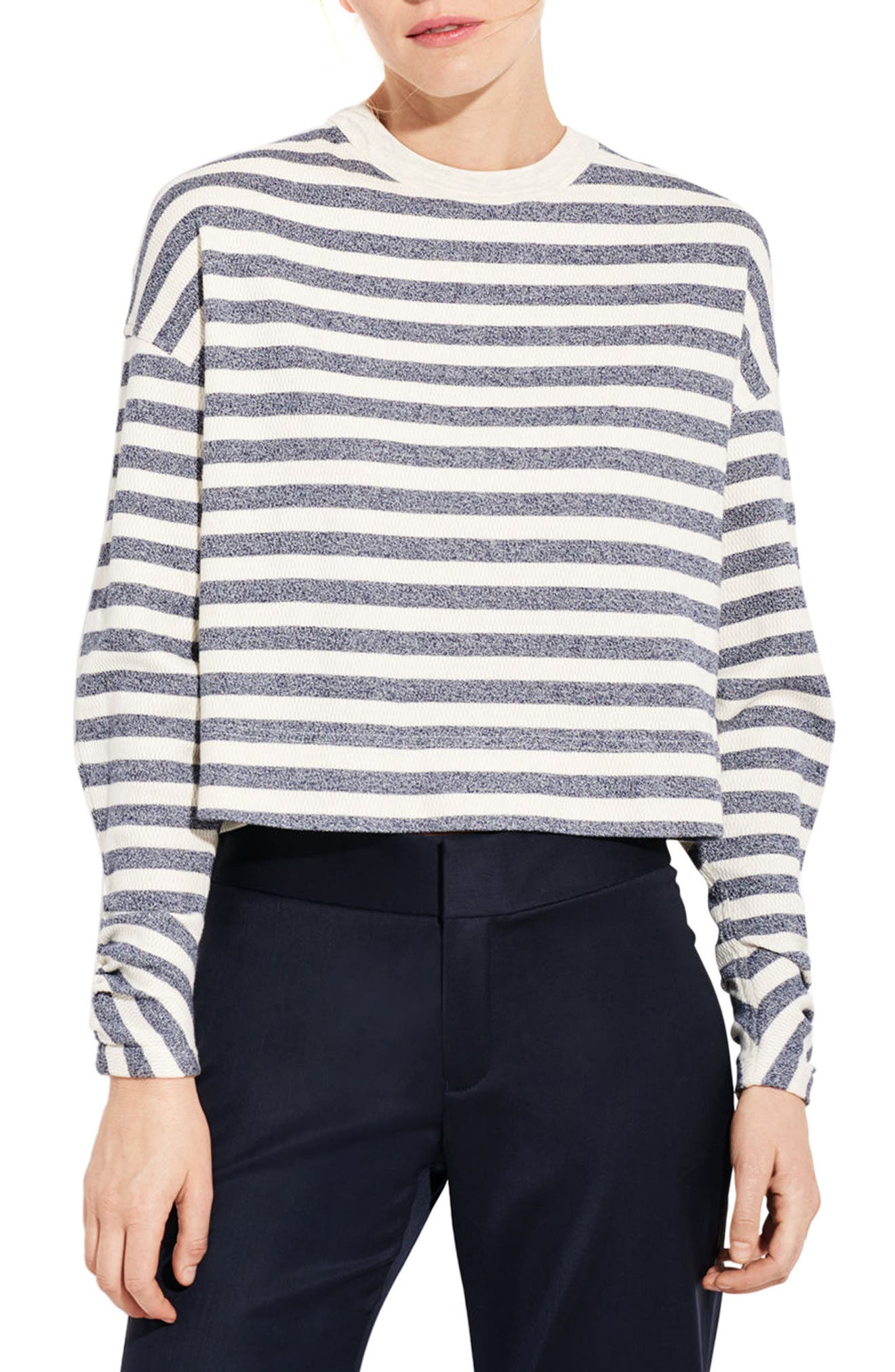 The Wavelength Top,                         Main,                         color, Navy/ Off White