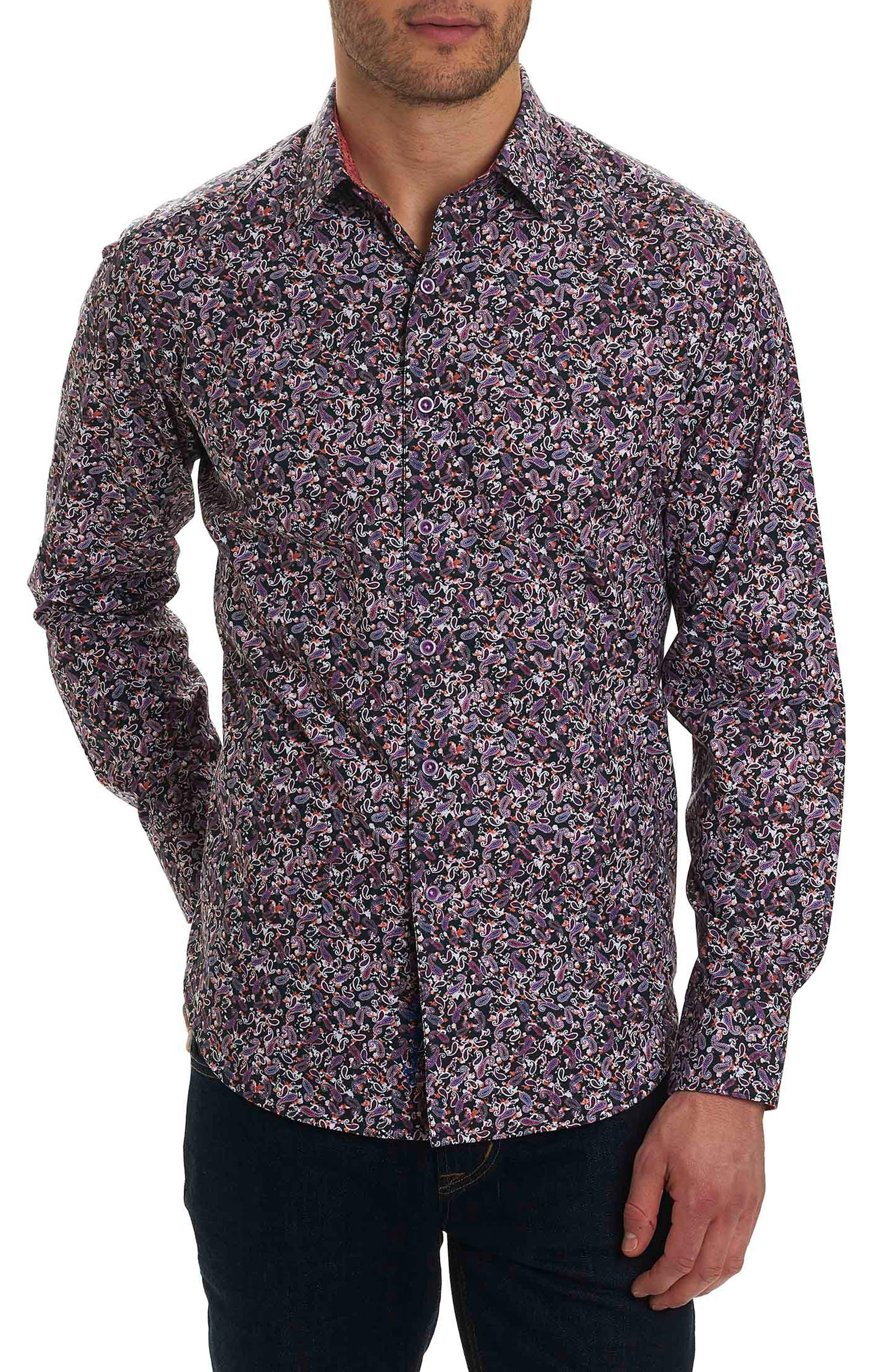 Congo Classic Fit Print Sport Shirt,                         Main,                         color, Black