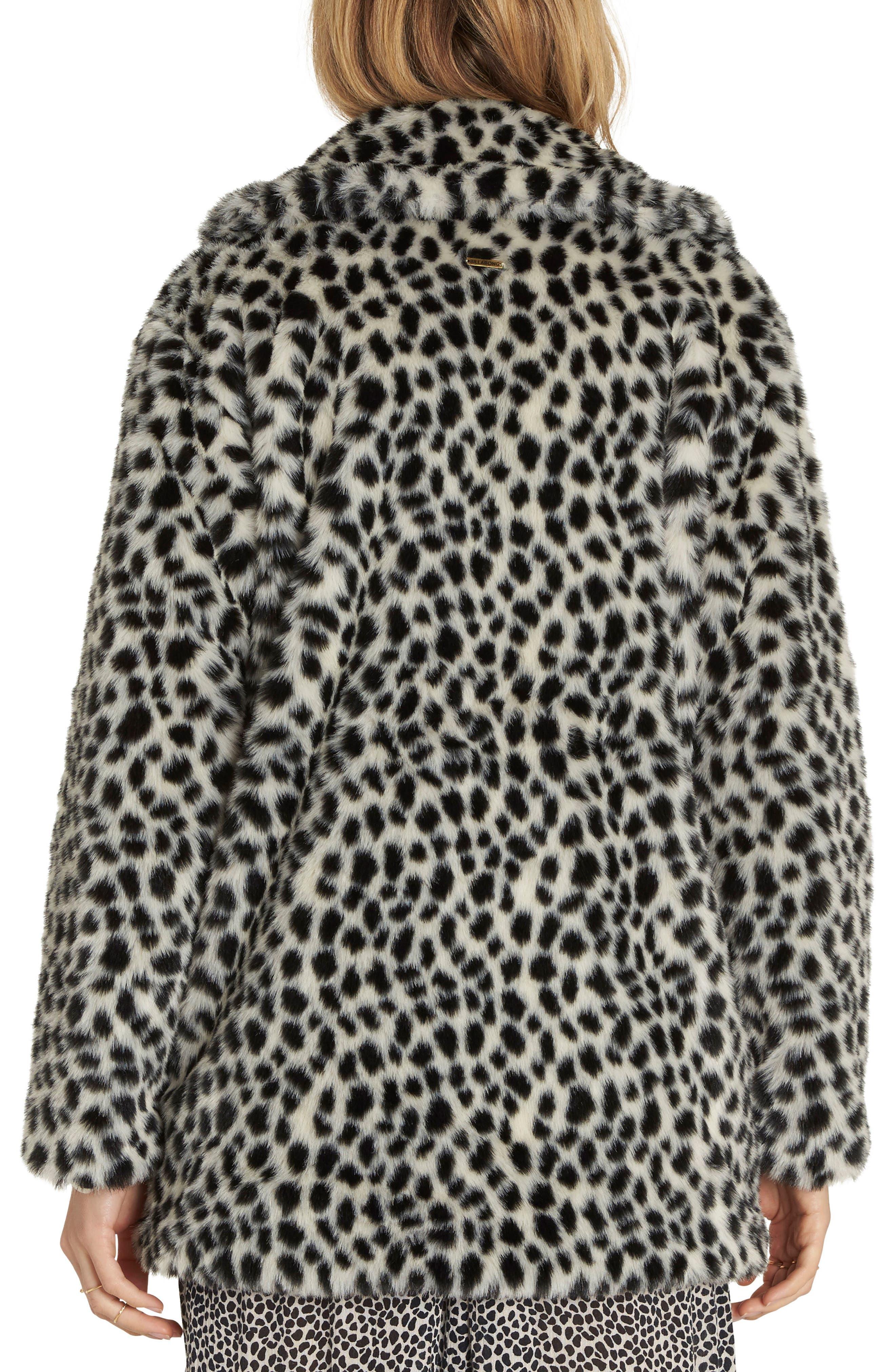 Wild One Faux Fur Coat,                             Alternate thumbnail 2, color,                             Cheetah