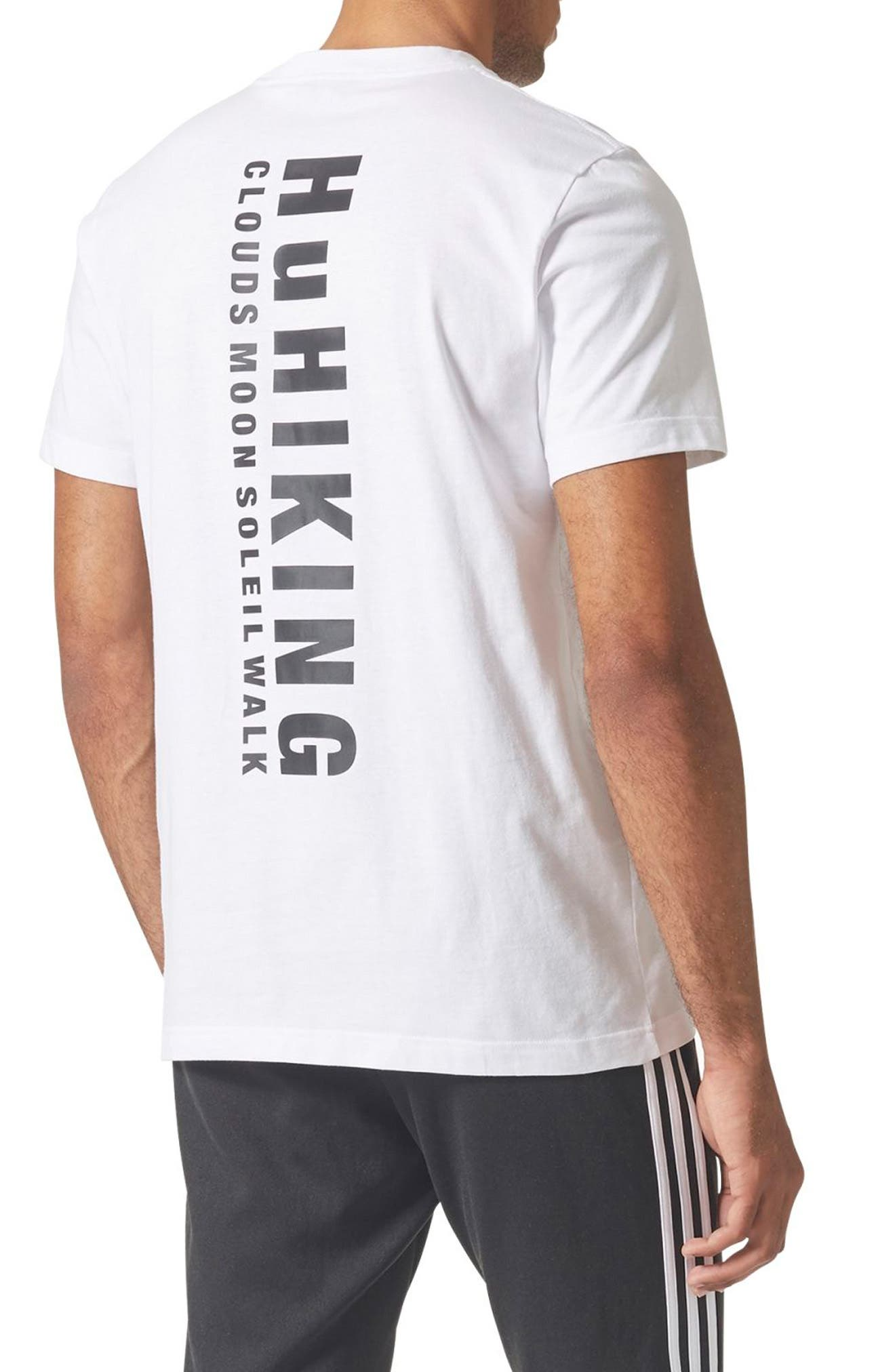 Originals Pharrell Williams Hu Hiking T-Shirt,                             Alternate thumbnail 2, color,                             White/ Camo