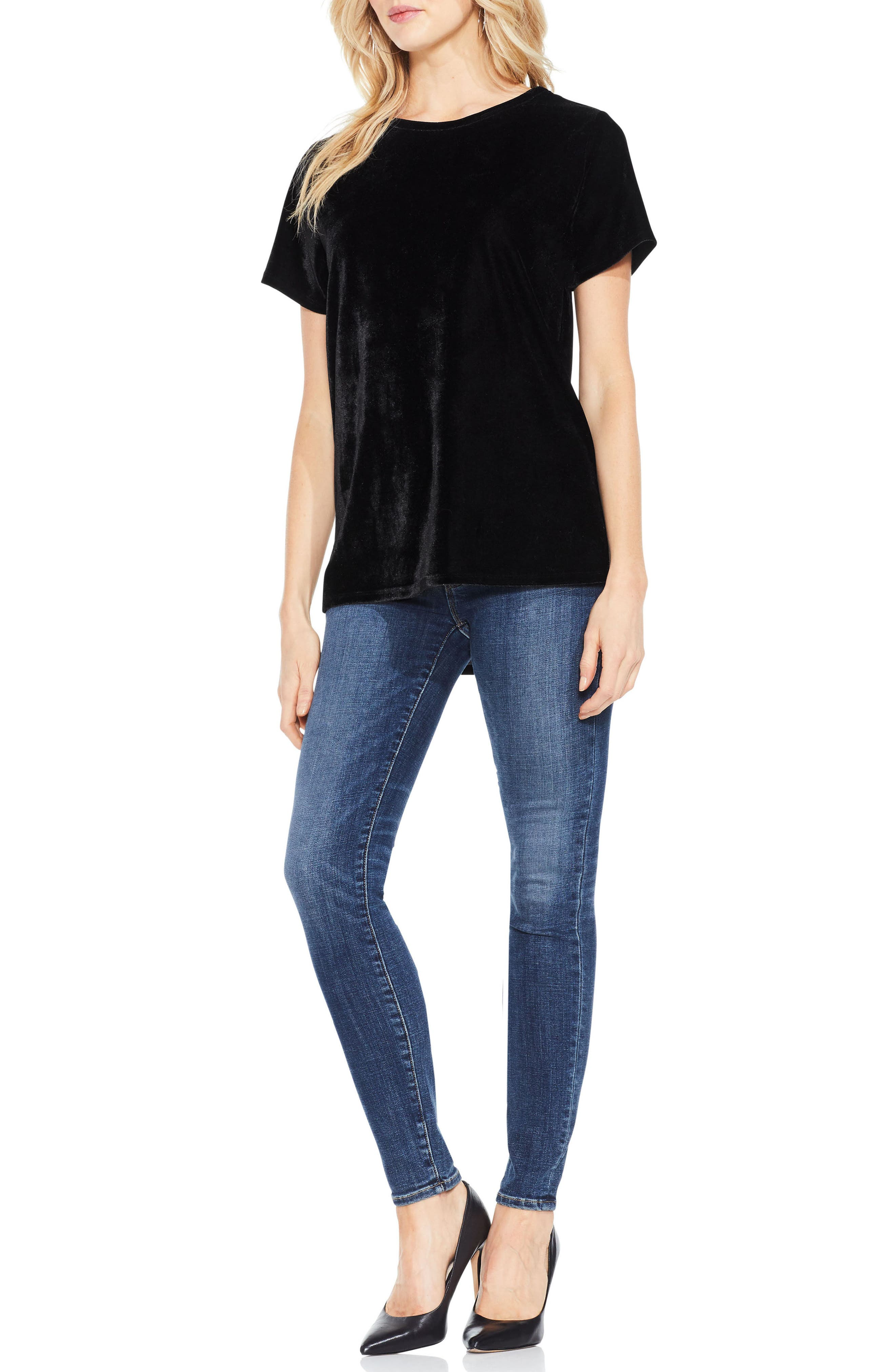 Alternate Image 2  - Two by Vince Camuto Velvet Top