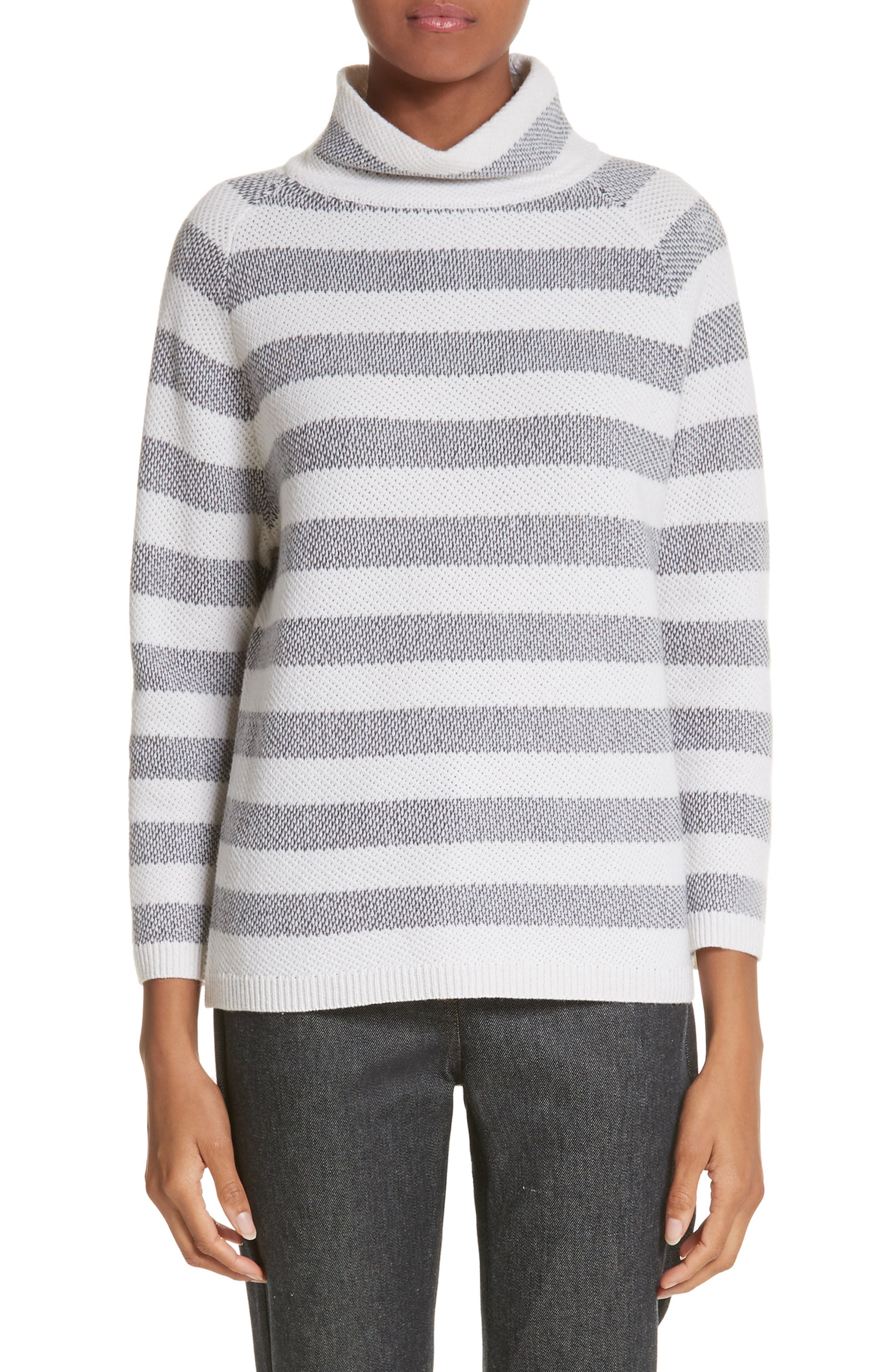 Osvaldo Cashmere Sweater,                             Main thumbnail 1, color,                             Medium Grey