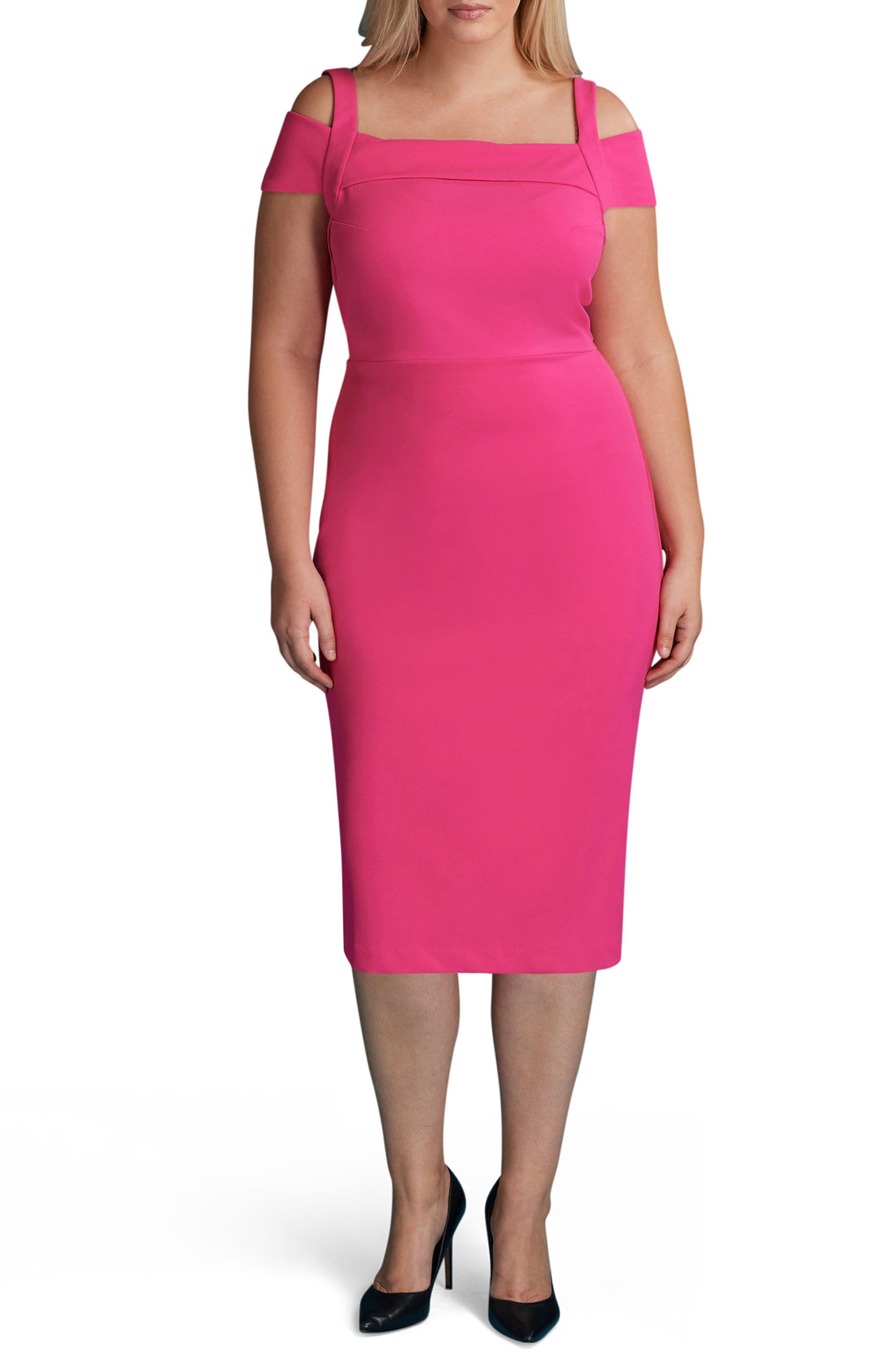 ECI Cold Shoulder Sheath Dress (Plus Size)