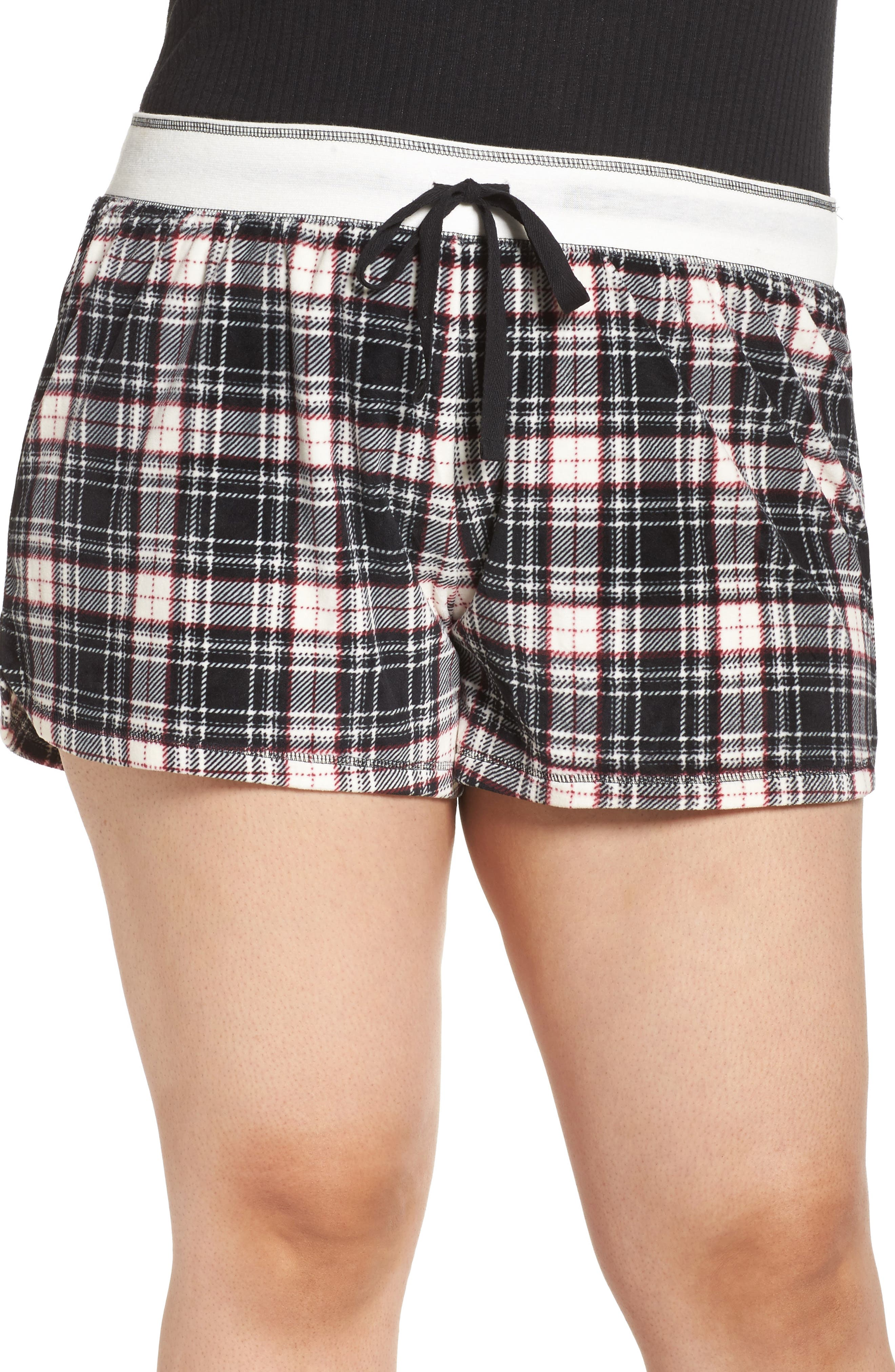 Main Image - PJ Salvage Velour Shorts (Plus Size)
