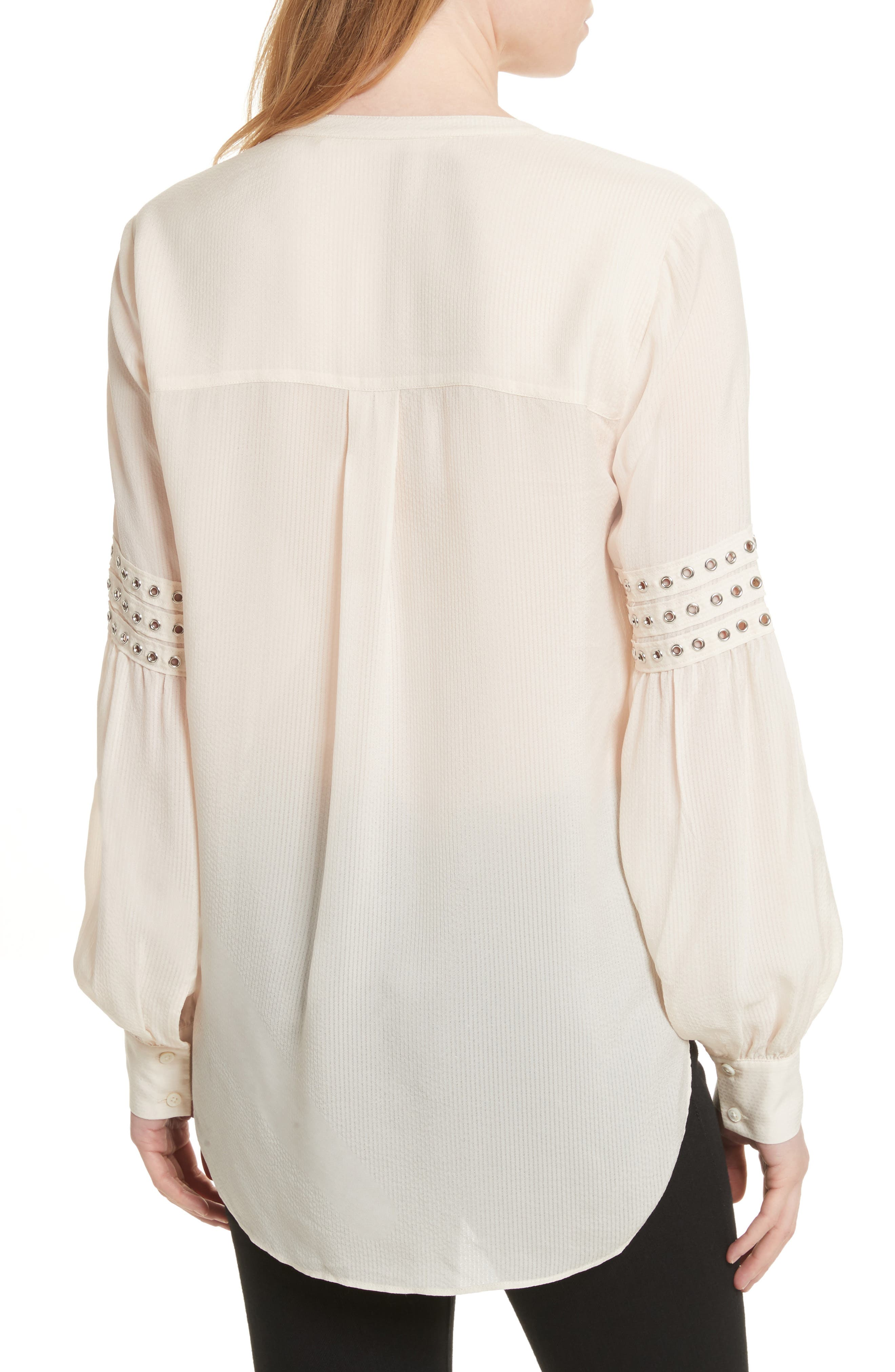 Willa Eyelet Trim Blouse,                             Alternate thumbnail 2, color,                             White