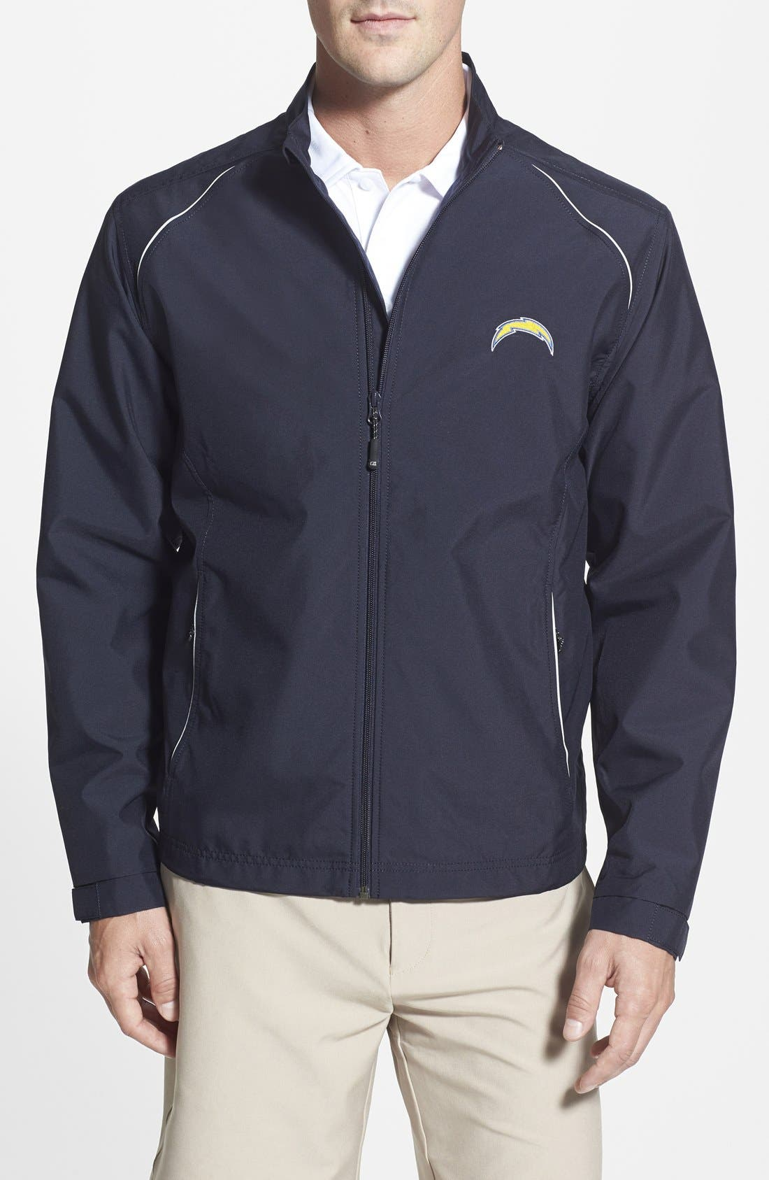San Diego Chargers - Beacon WeatherTec Wind & Water Resistant Jacket,                             Main thumbnail 1, color,                             Navy Blue