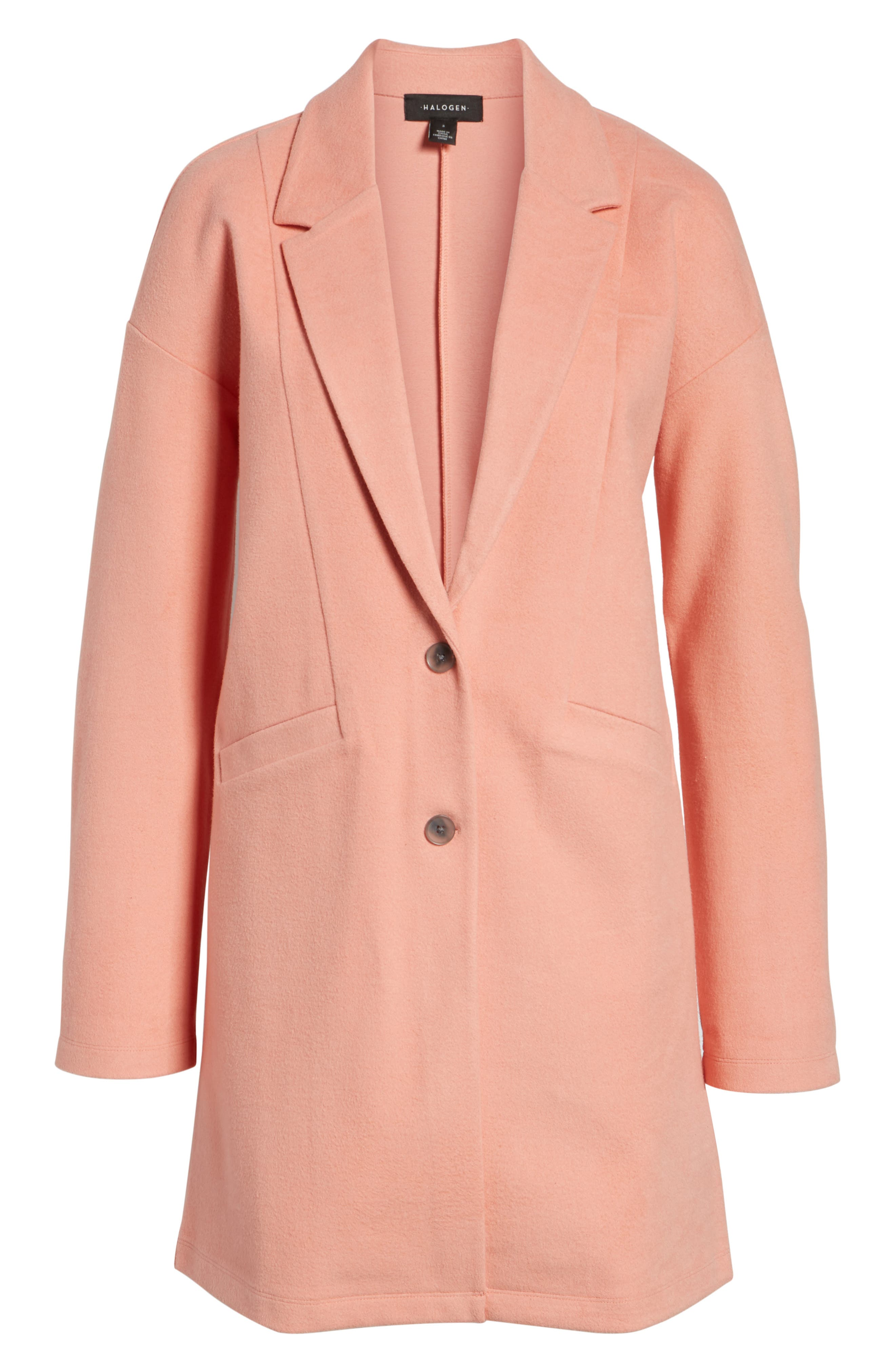 Two-Button Jacket,                             Alternate thumbnail 6, color,                             Coral Terra