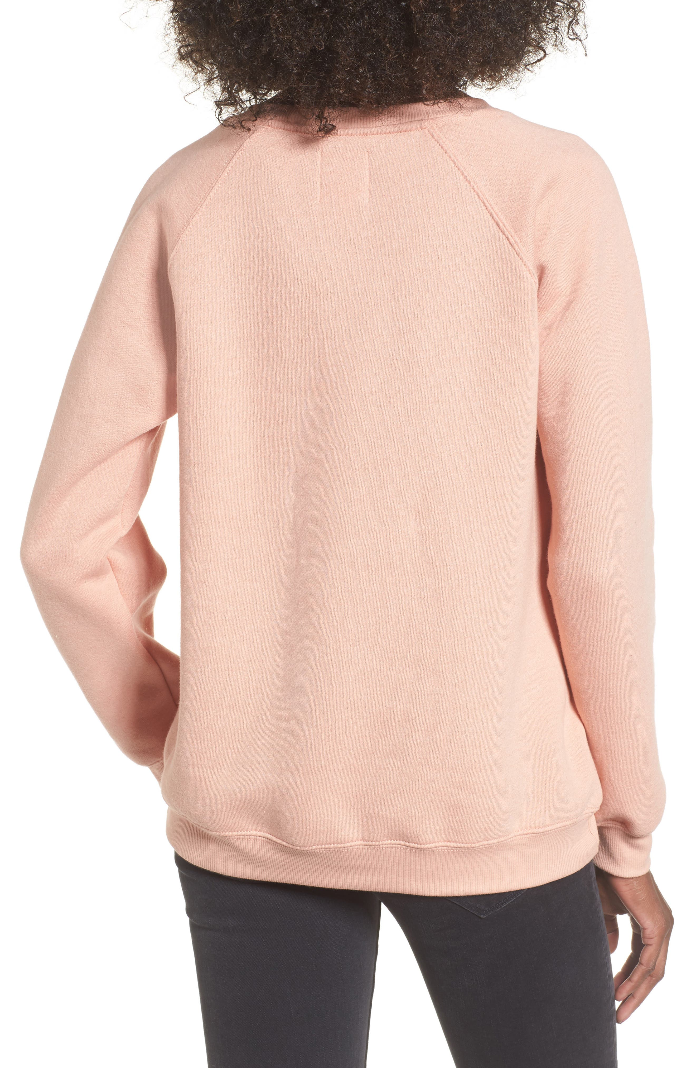 Cali Days Sweatshirt,                             Alternate thumbnail 2, color,                             Pearl Pink