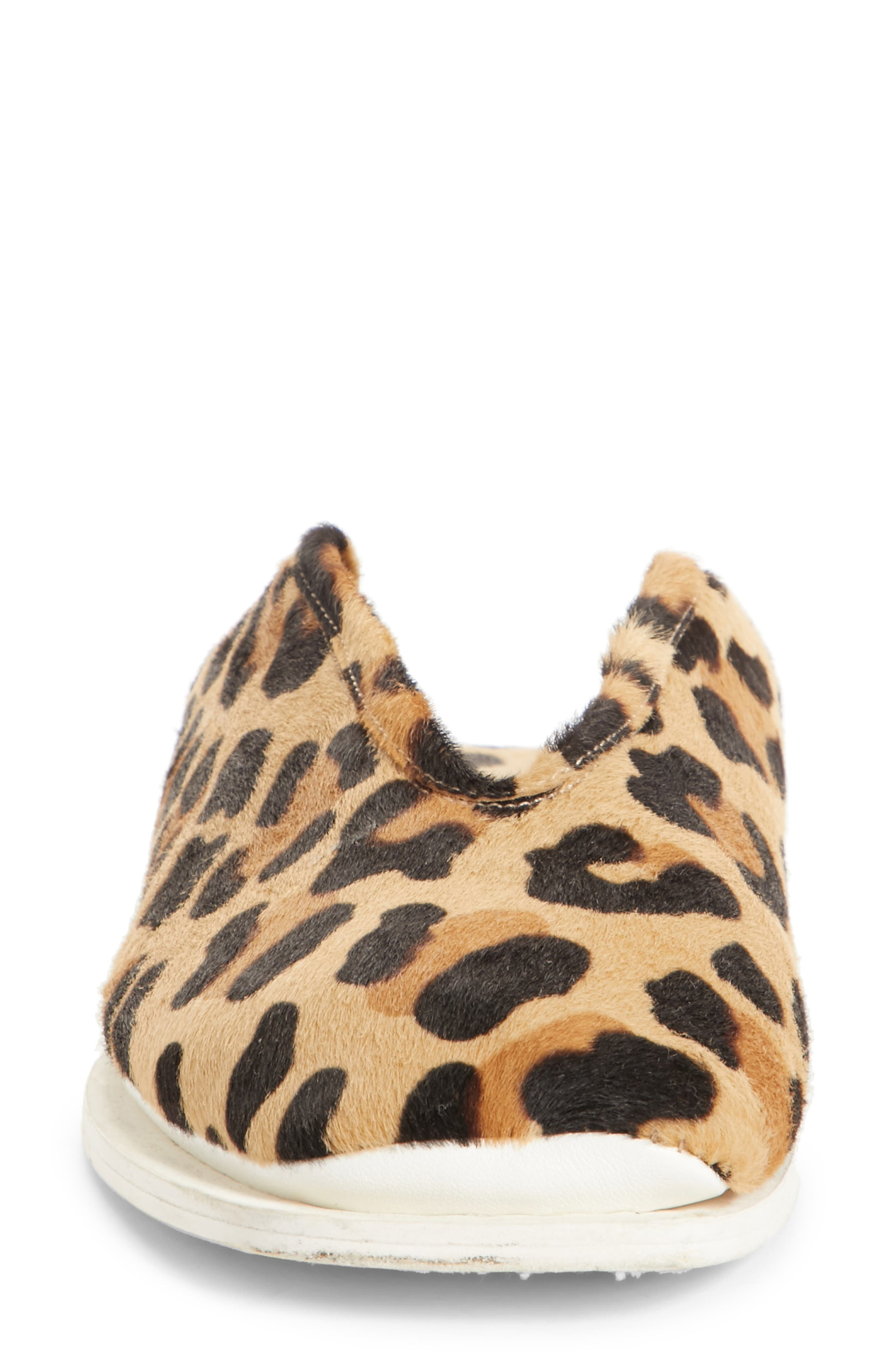 PSWL Genuine Calf Hair Convertible Loafer,                             Alternate thumbnail 4, color,                             Leopard Print