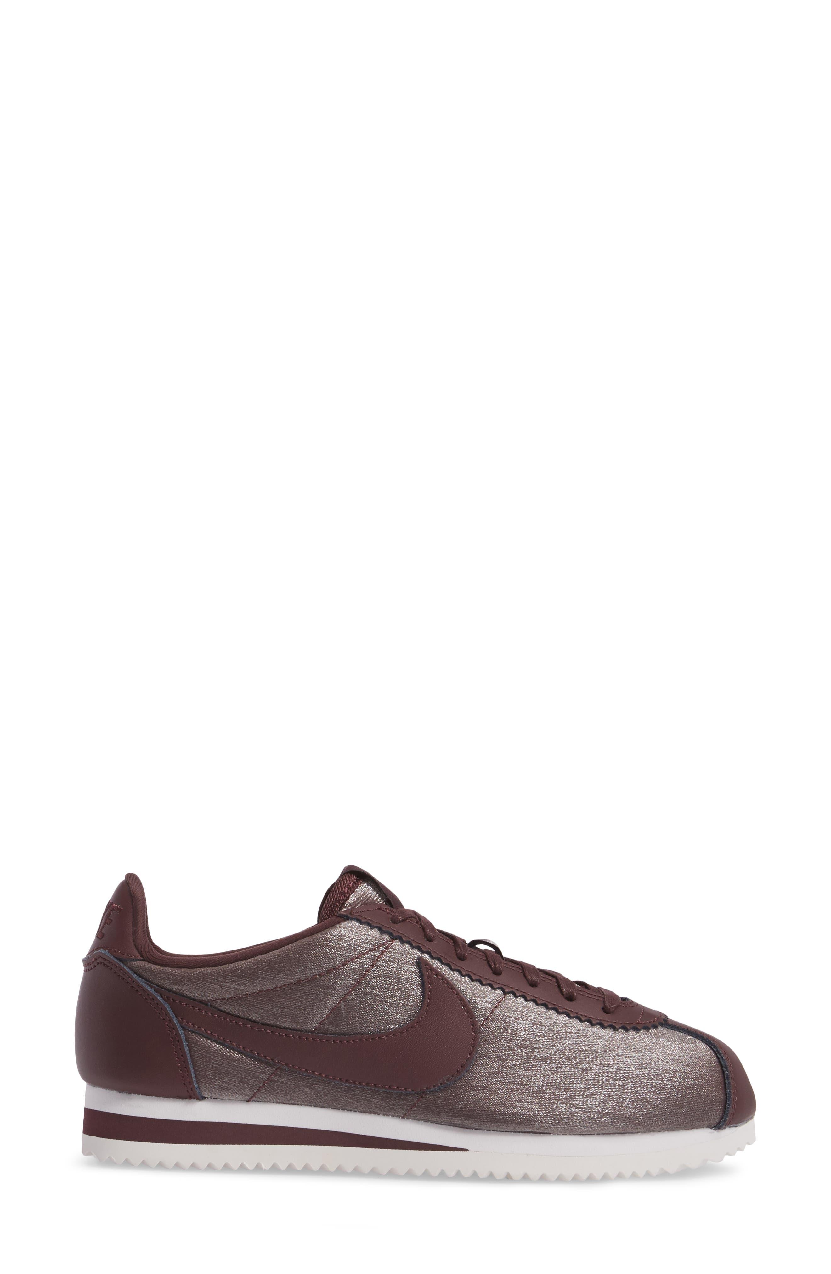 Classic Cortez Premium XLV Sneaker,                             Alternate thumbnail 6, color,                             Mahogany/ Mahogany/ White