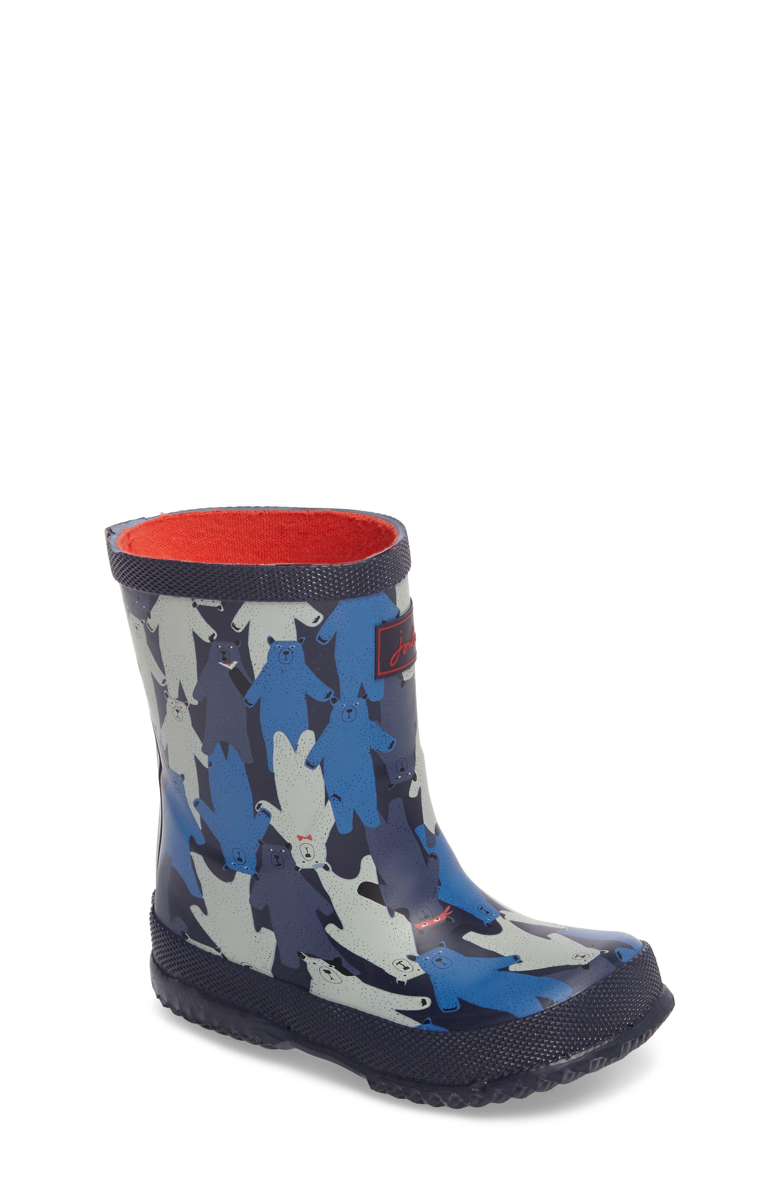 Printed Waterproof Rain Boot,                         Main,                         color, Multi Bear Camo