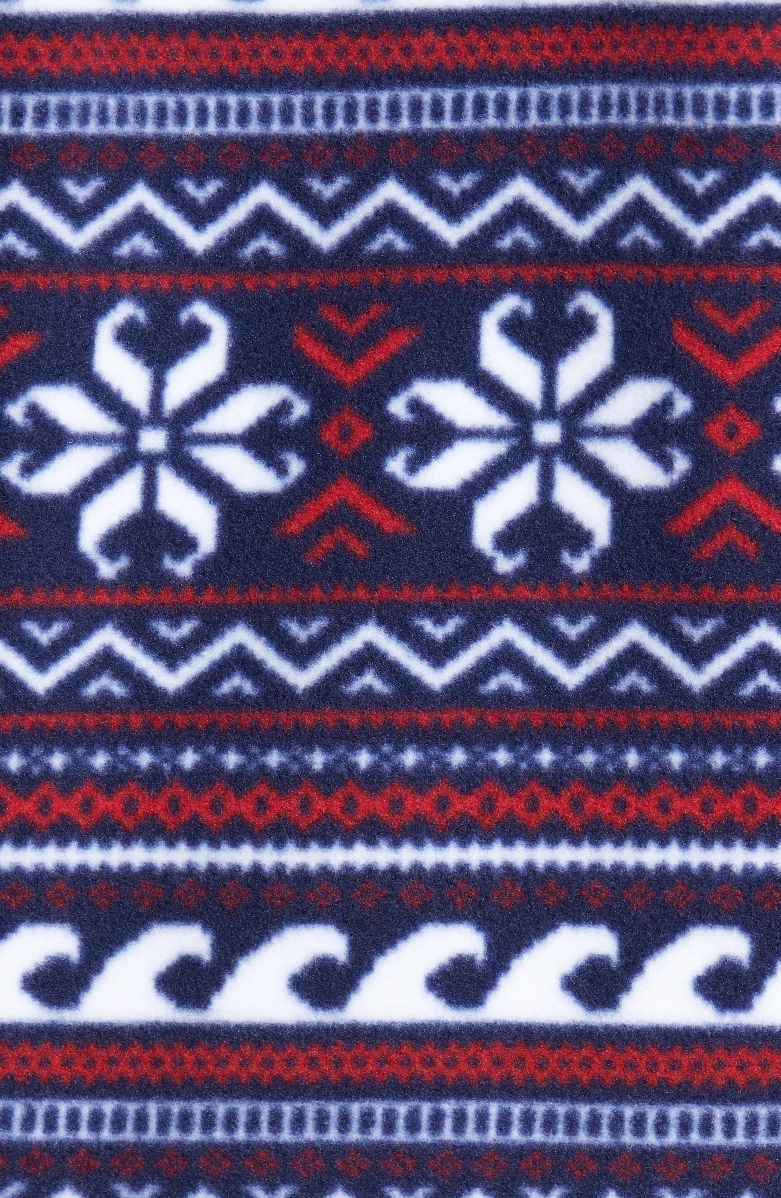 Fair Isle Quarter Snap Fleece Pullover,                             Alternate thumbnail 5, color,                             Multi