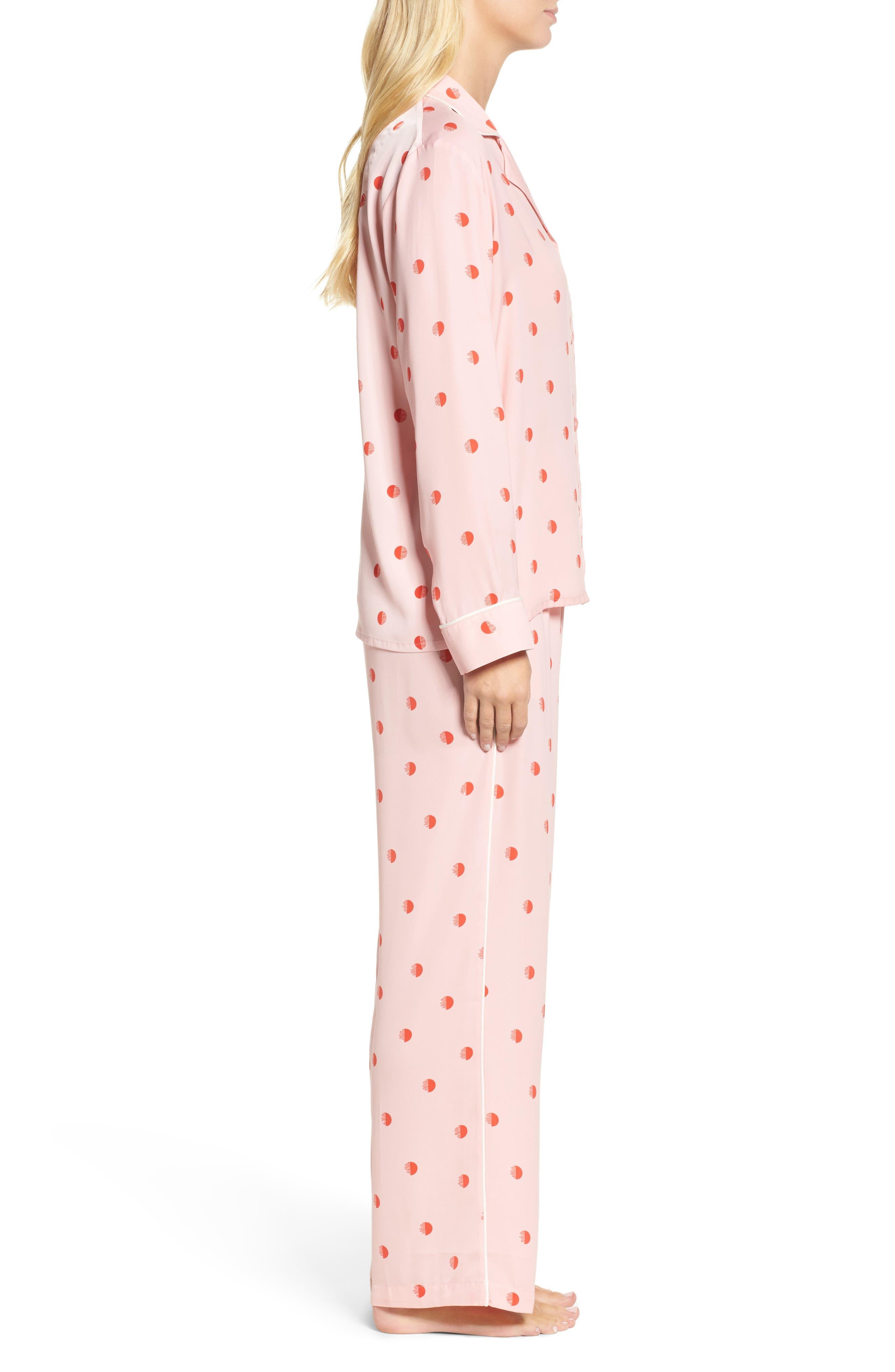 Alternate Image 3  - DKNY Washed Satin Pajamas