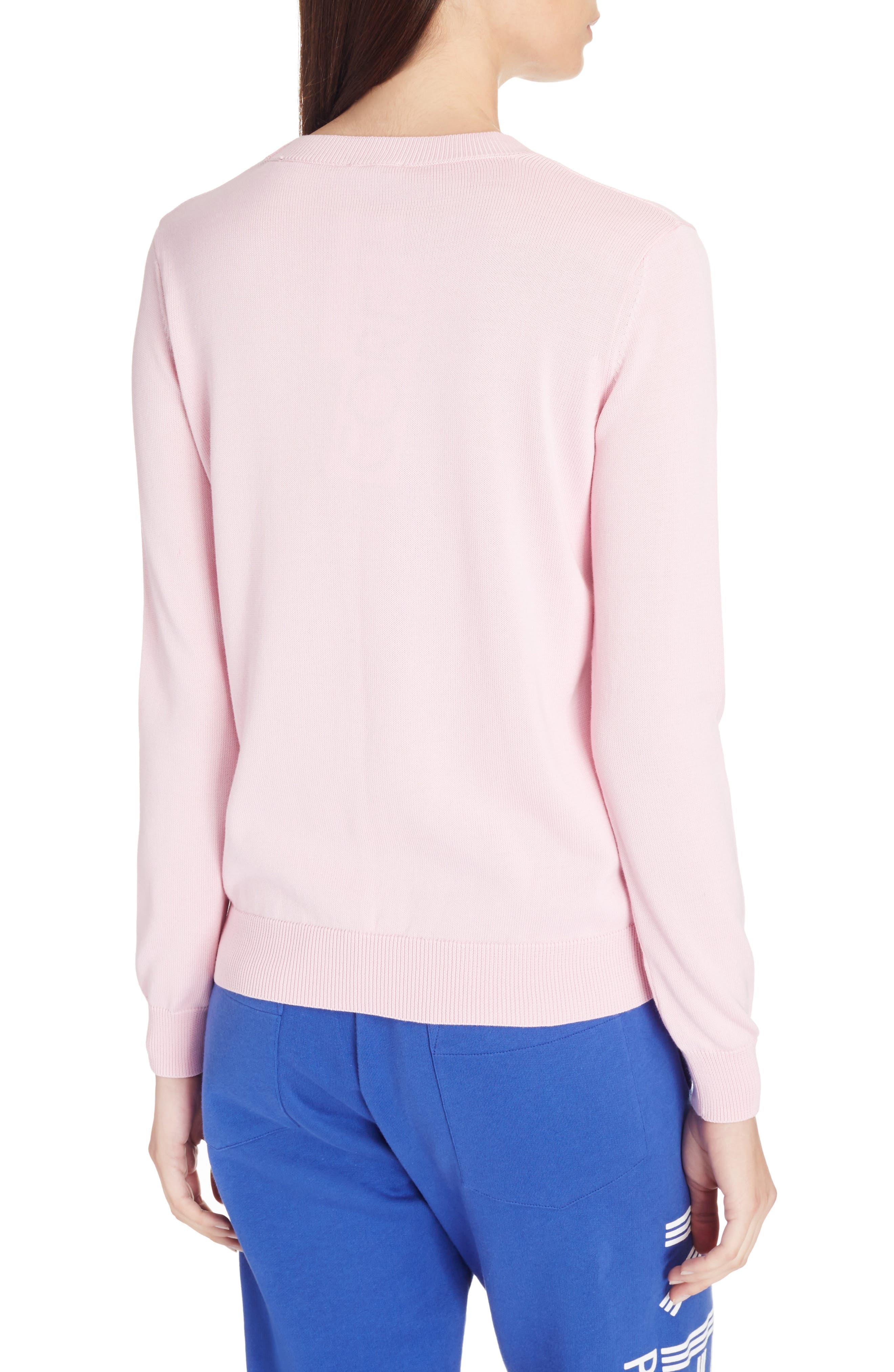 Paris Logo Sweatshirt,                             Alternate thumbnail 5, color,                             Flamingo Pink