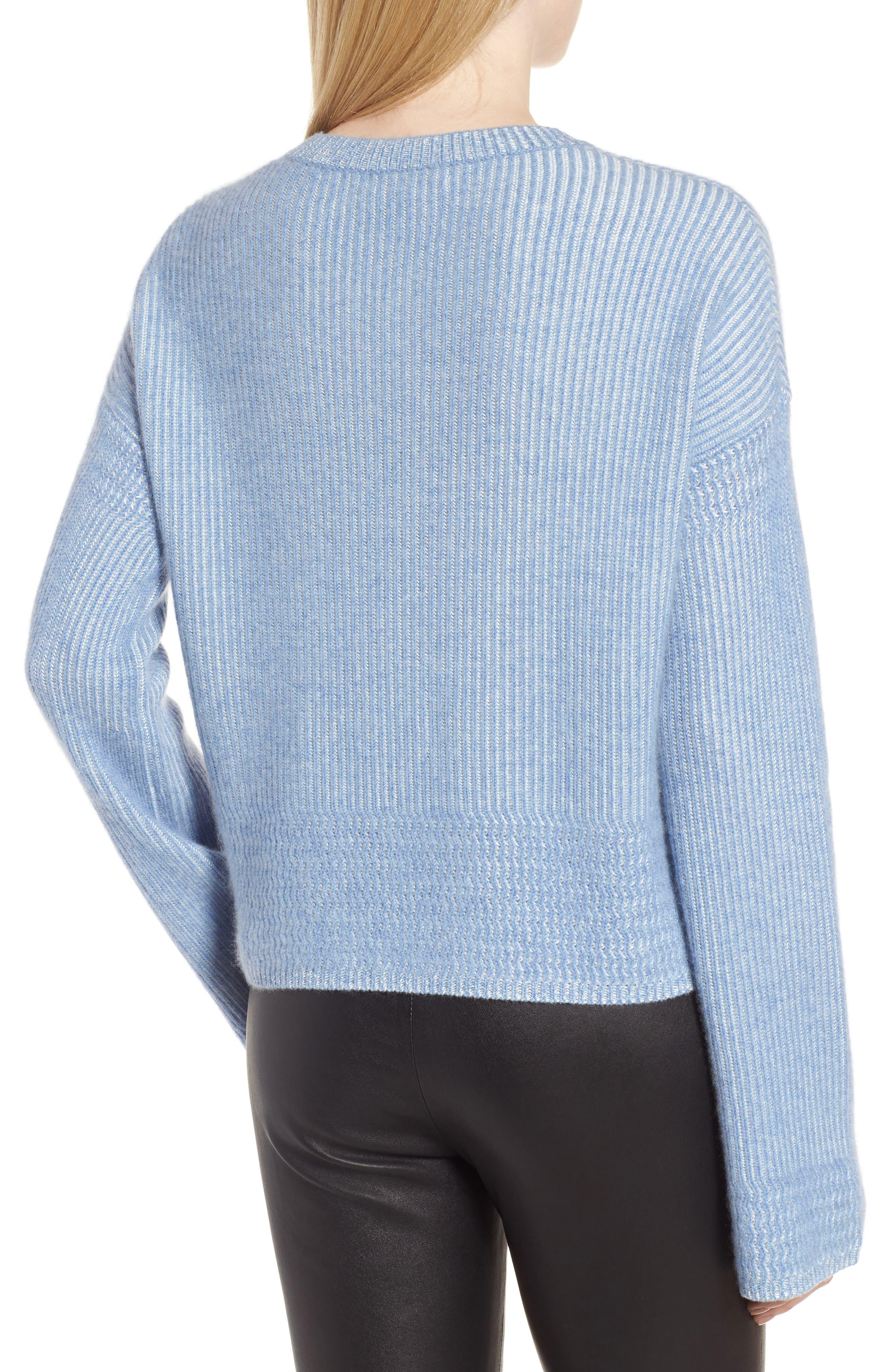 Alternate Image 2  - Nordstrom Signature Cashmere & Silk Blend Plaited Pullover