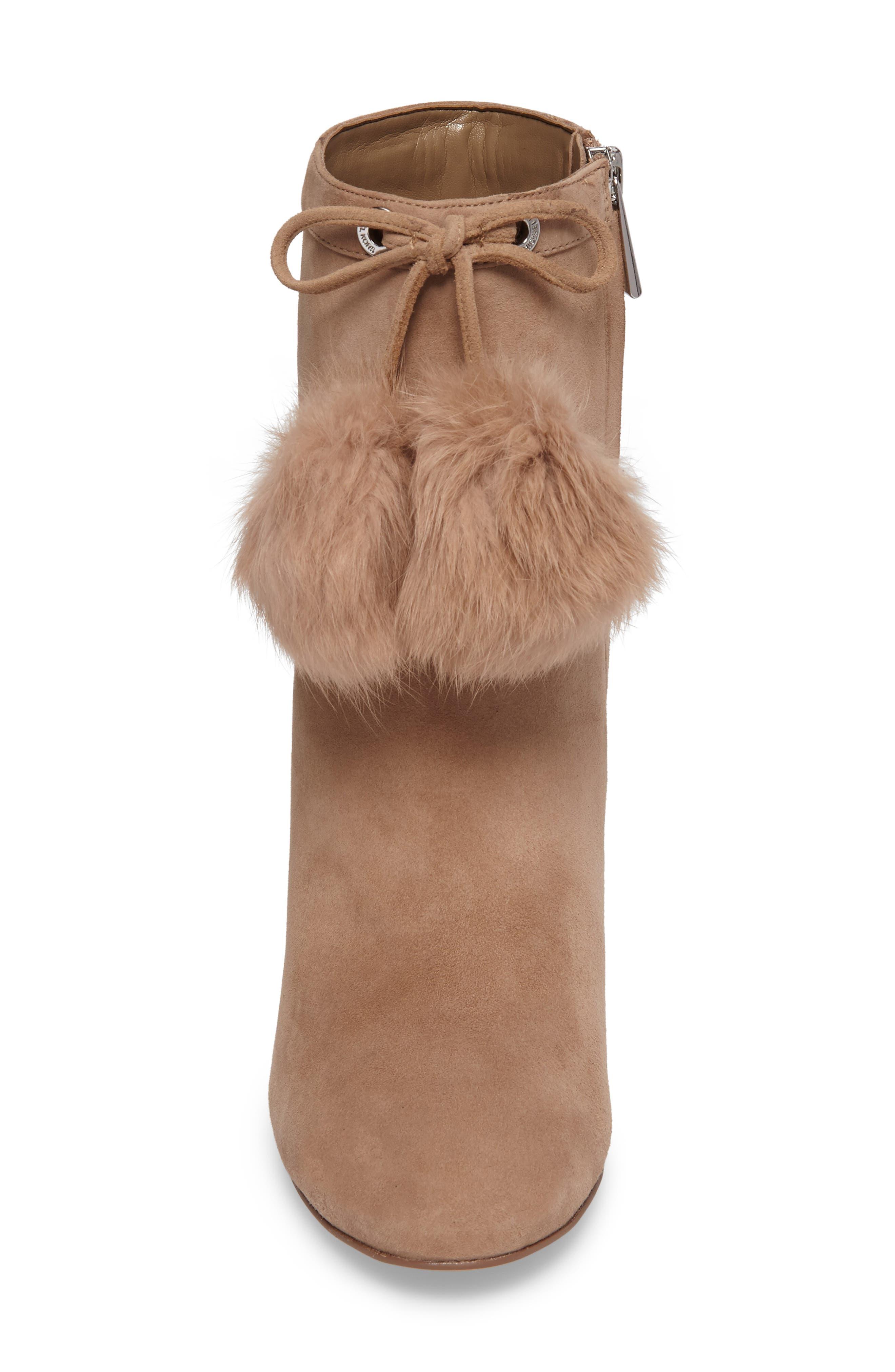 Alternate Image 4  - MICHAEL Michael Kors Remi Bootie with Genuine Rabbit Fur Pom (Women)
