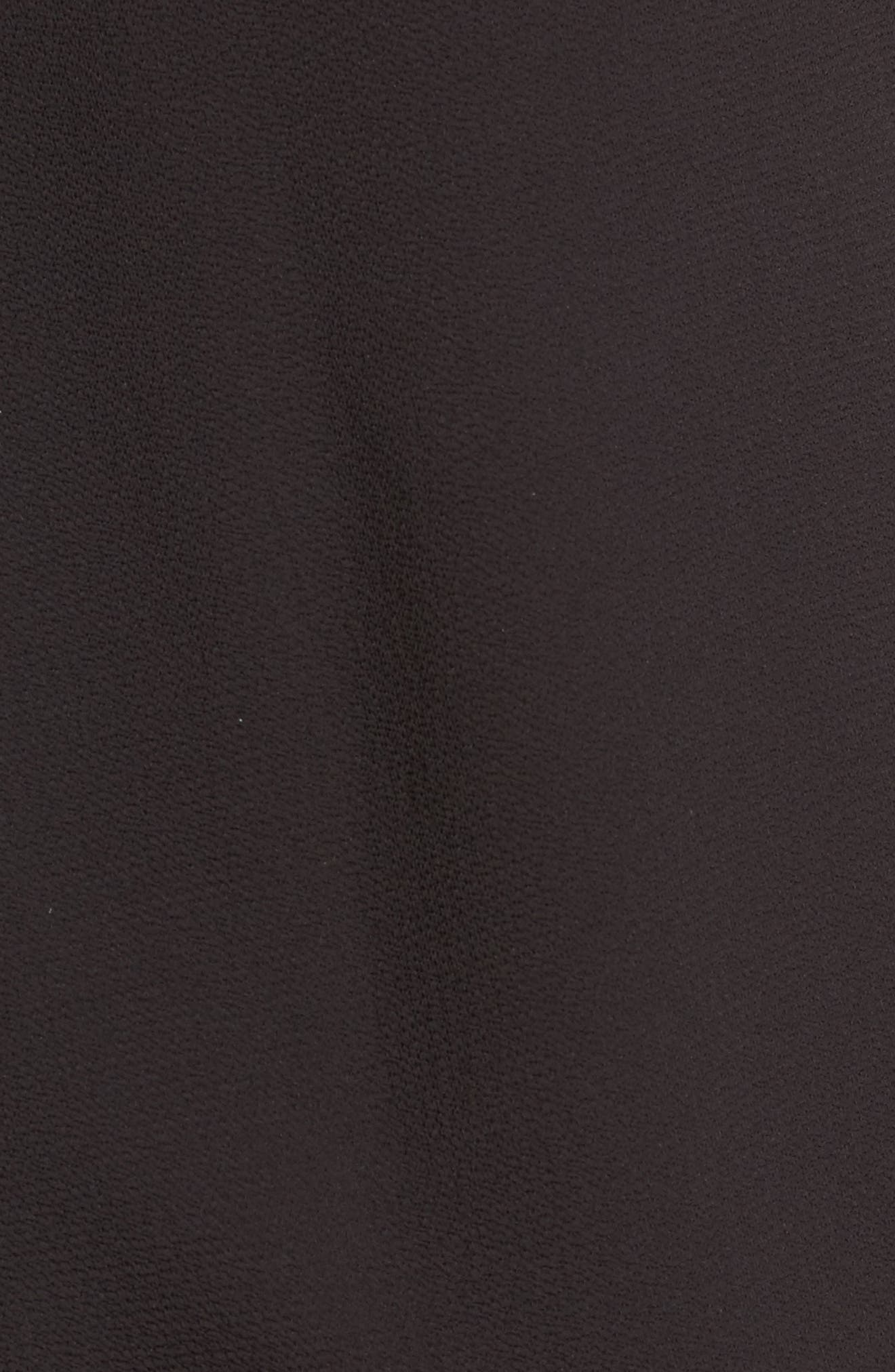 High/Low Wrap Top,                             Alternate thumbnail 5, color,                             Black