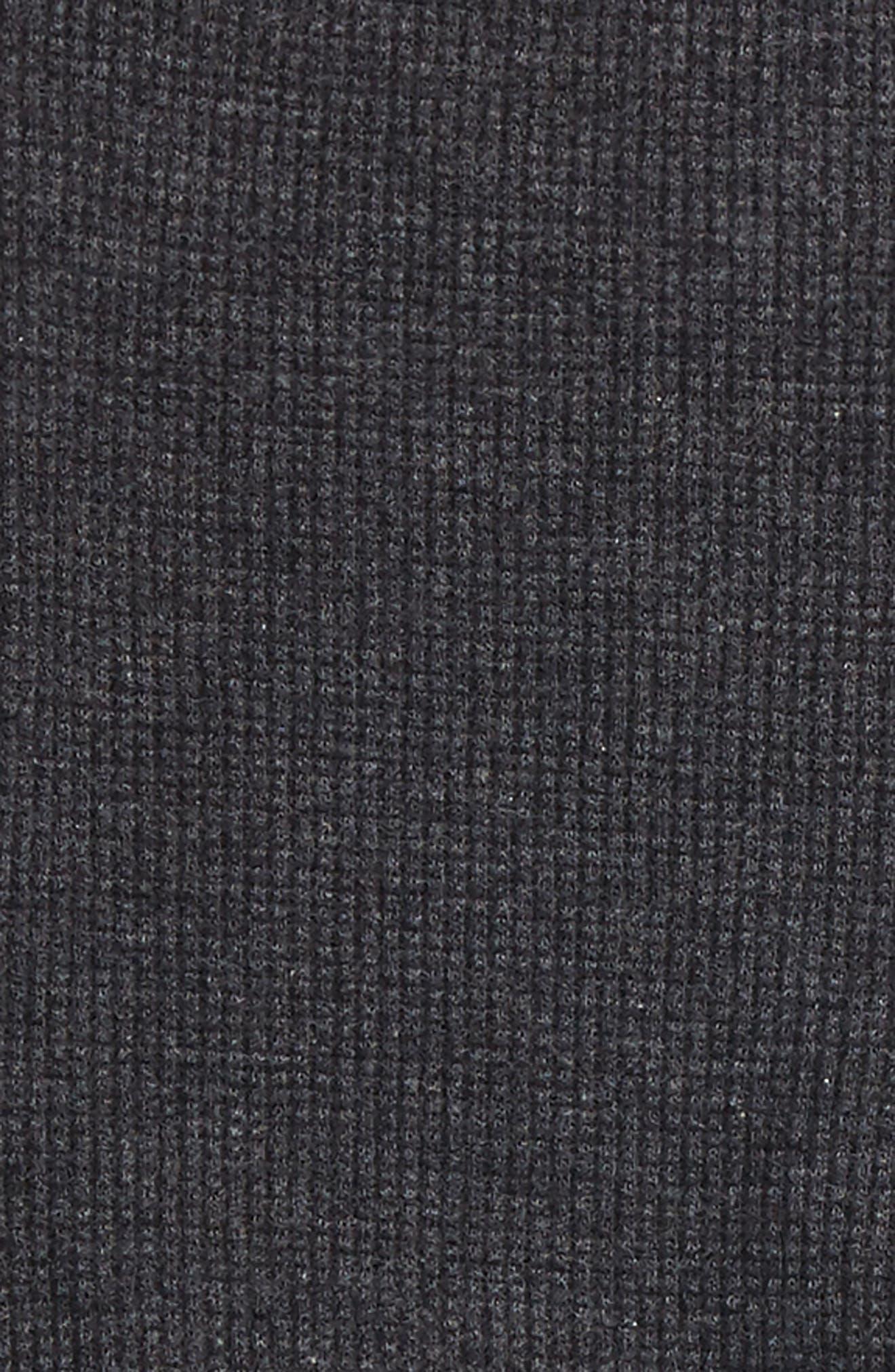 Thermal Ruffle Skater Dress & Leggings Set,                             Alternate thumbnail 2, color,                             Coal Heather