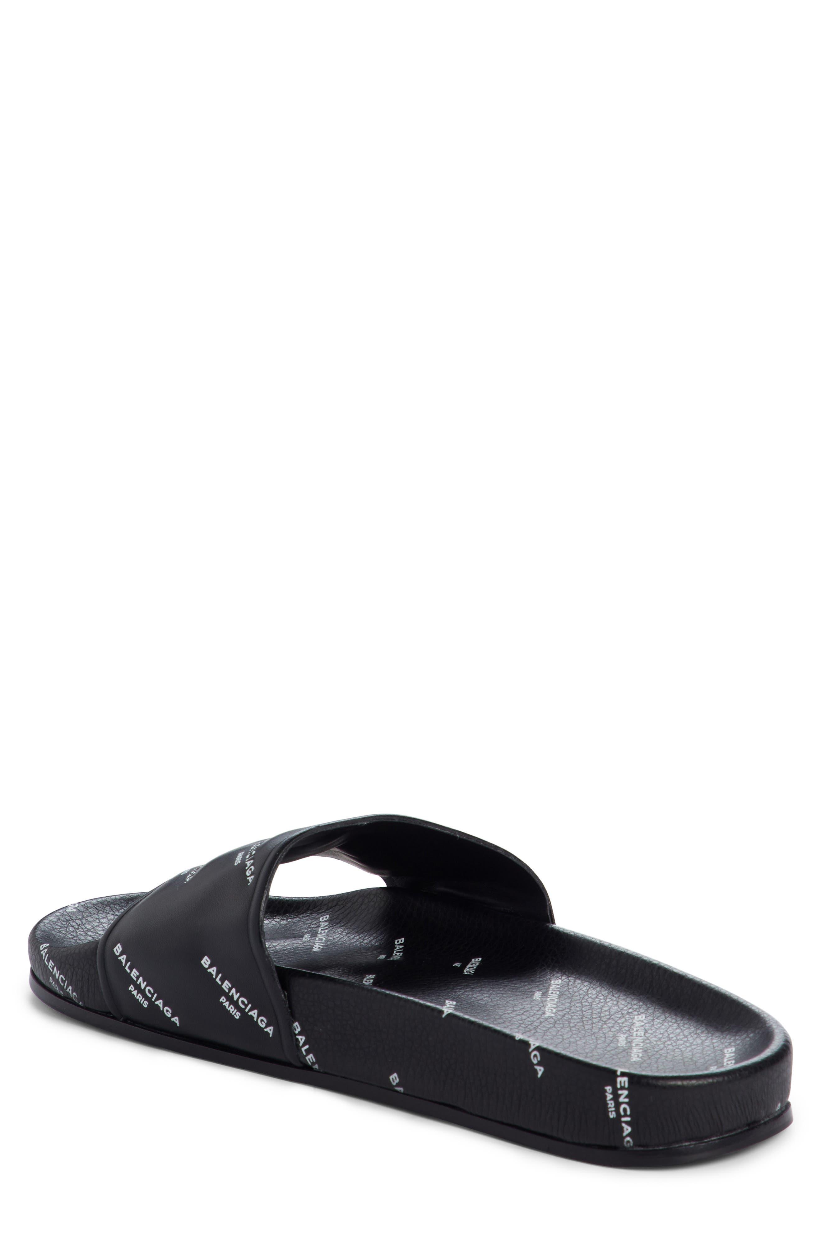 Alternate Image 2  - Balenciaga Logo Print Slide Sandal (Women)