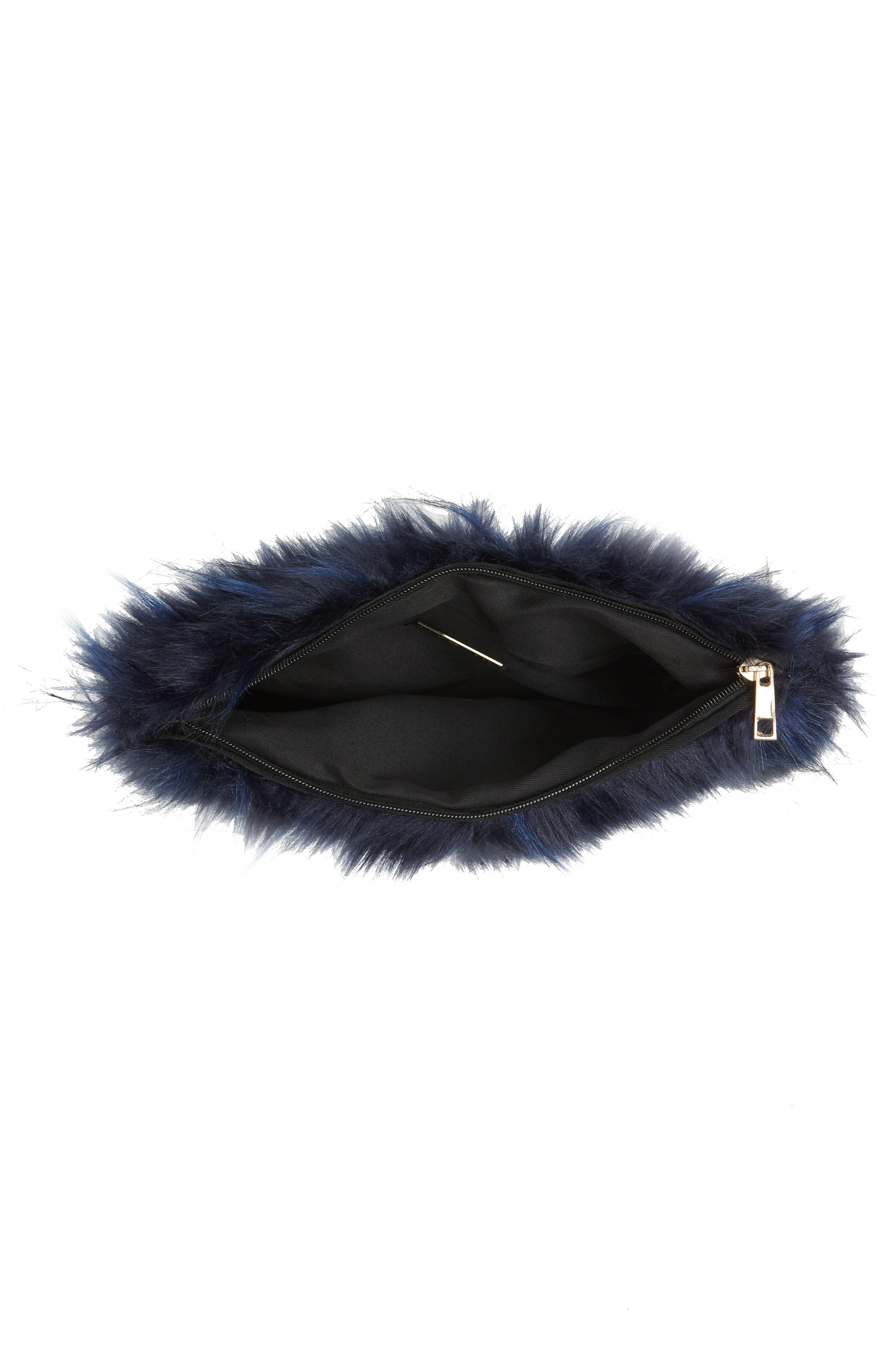 Alternate Image 4  - Natasha Couture Faux Fur Clutch