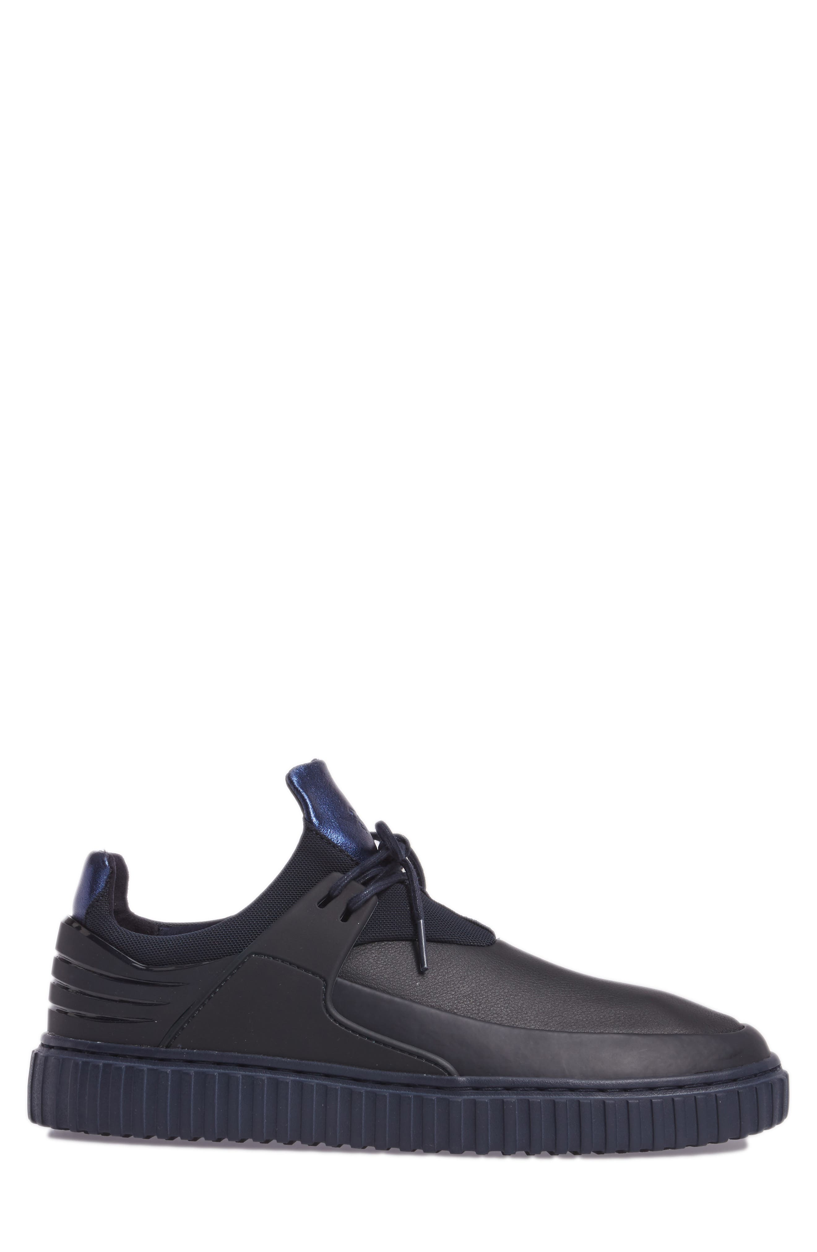 Castucci Mid Sneaker,                             Alternate thumbnail 3, color,                             Navy Leather